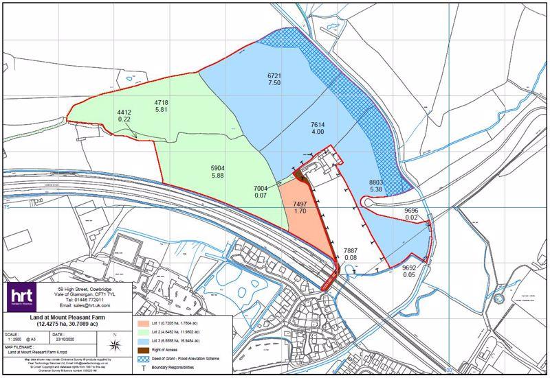 Lot 3 - 16.94 acres of land at Mount Pleasant Farm, Cowbridge