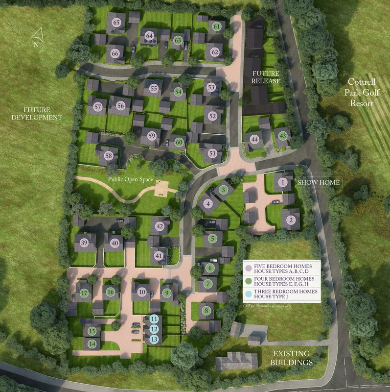 RESERVED Plot 6, Cottrell Gardens, Sycamore Cross, Bonvilston, Vale of Glamorgan, CF5 6TR