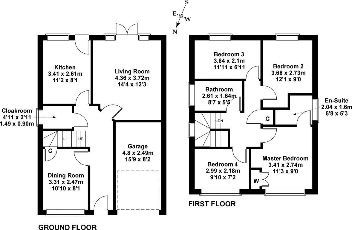 Floorplan 1 of 8 Chesterhall Avenue, Macmerry, East Lothian, EH33 1QJ