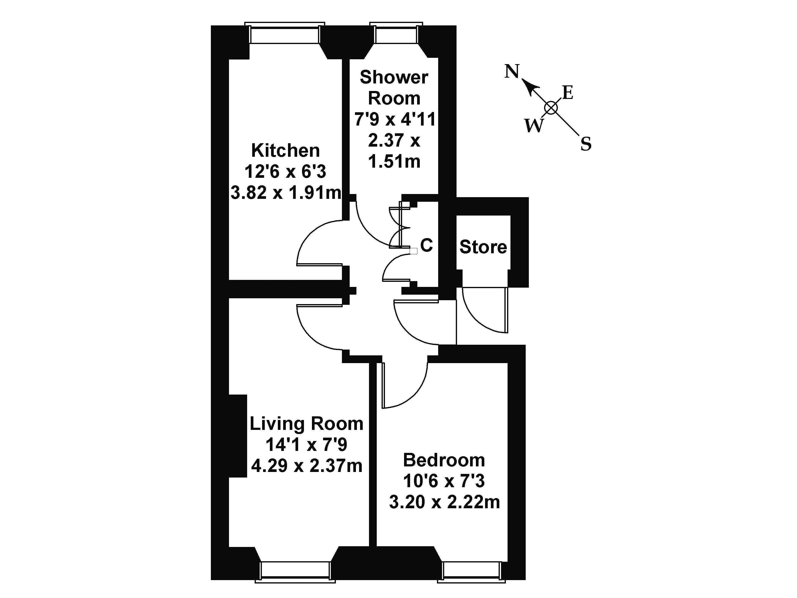 Floorplan 1 of 1/2 Eastfield Place, Joppa, Edinburgh EH15 2PL