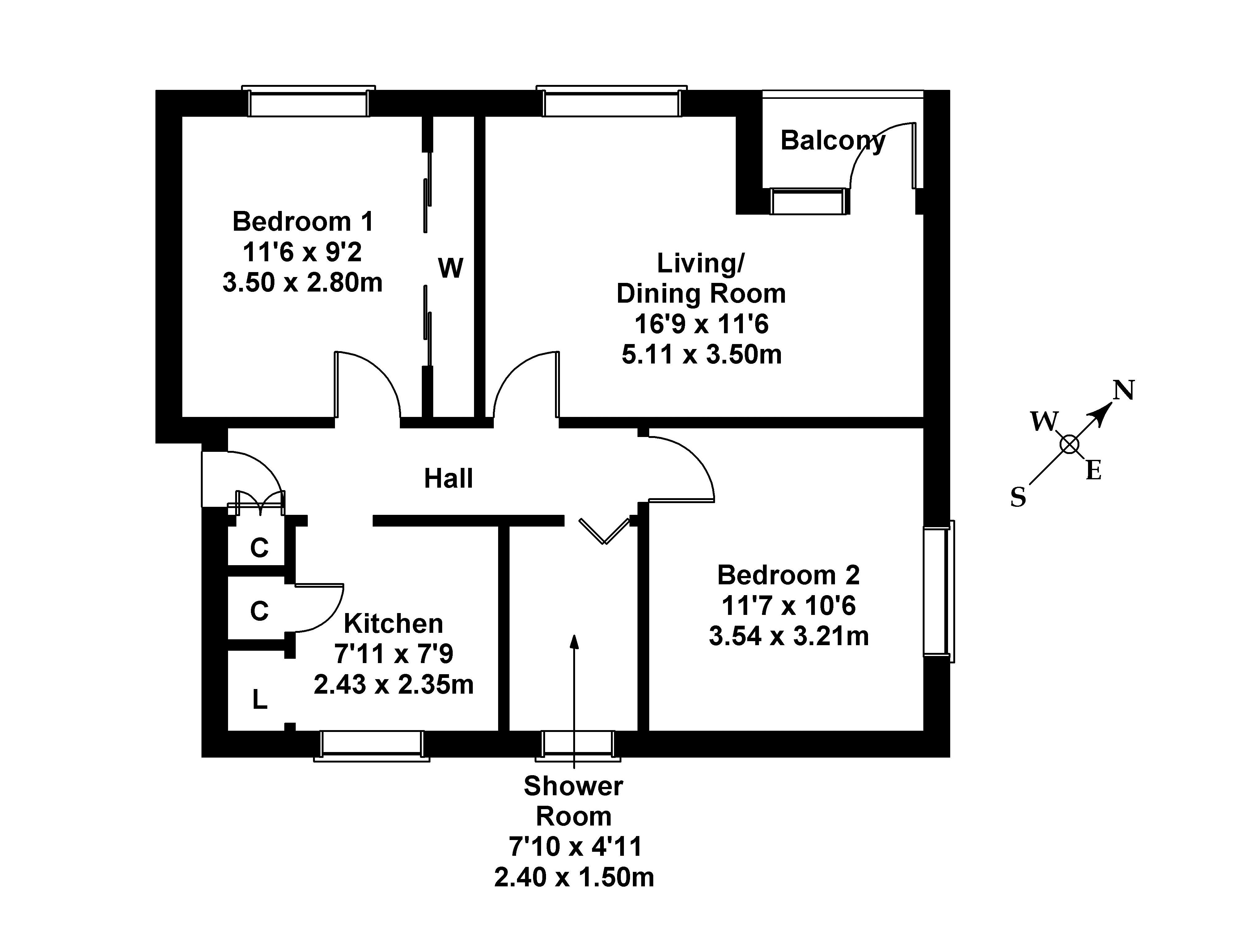 Floorplan 1 of 246/14 Telford Road, Crewe, Edinburgh, EH4 2PN