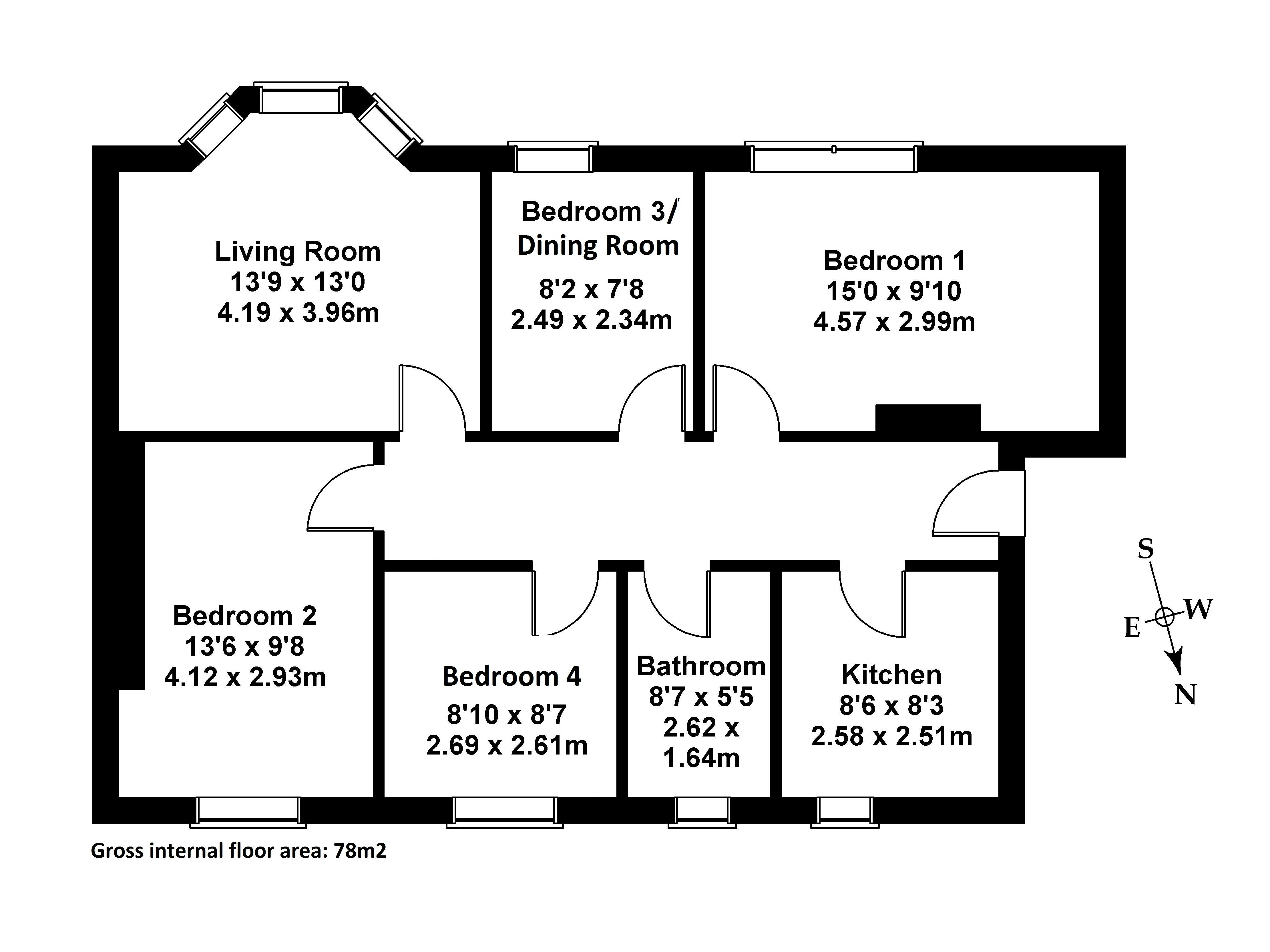 Floorplan 1 of 1F2, 126 Queensferry Road, Craigleith, Edinburgh, EH4 2BG