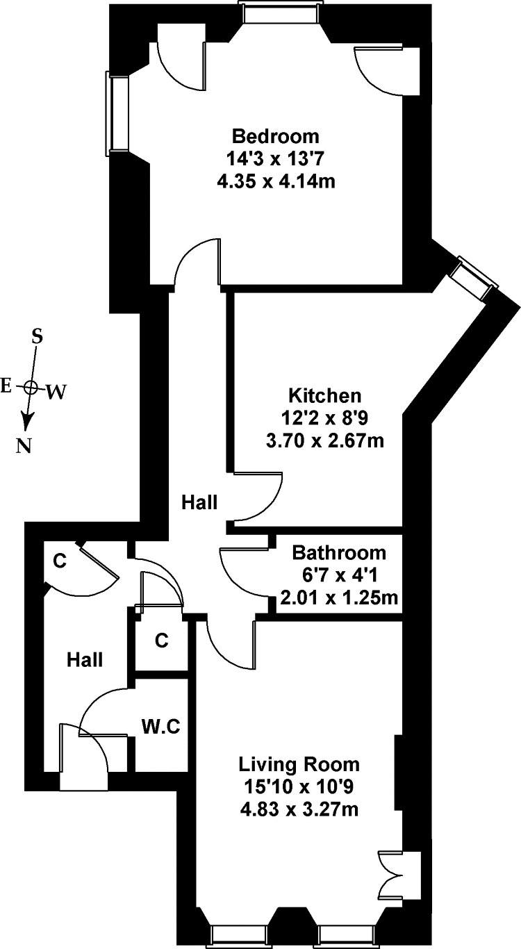 Floorplan 1 of Flat 5, New Assembly Close, 142 High Street, The Royal Mile, Edinburgh, EH1 1QQ