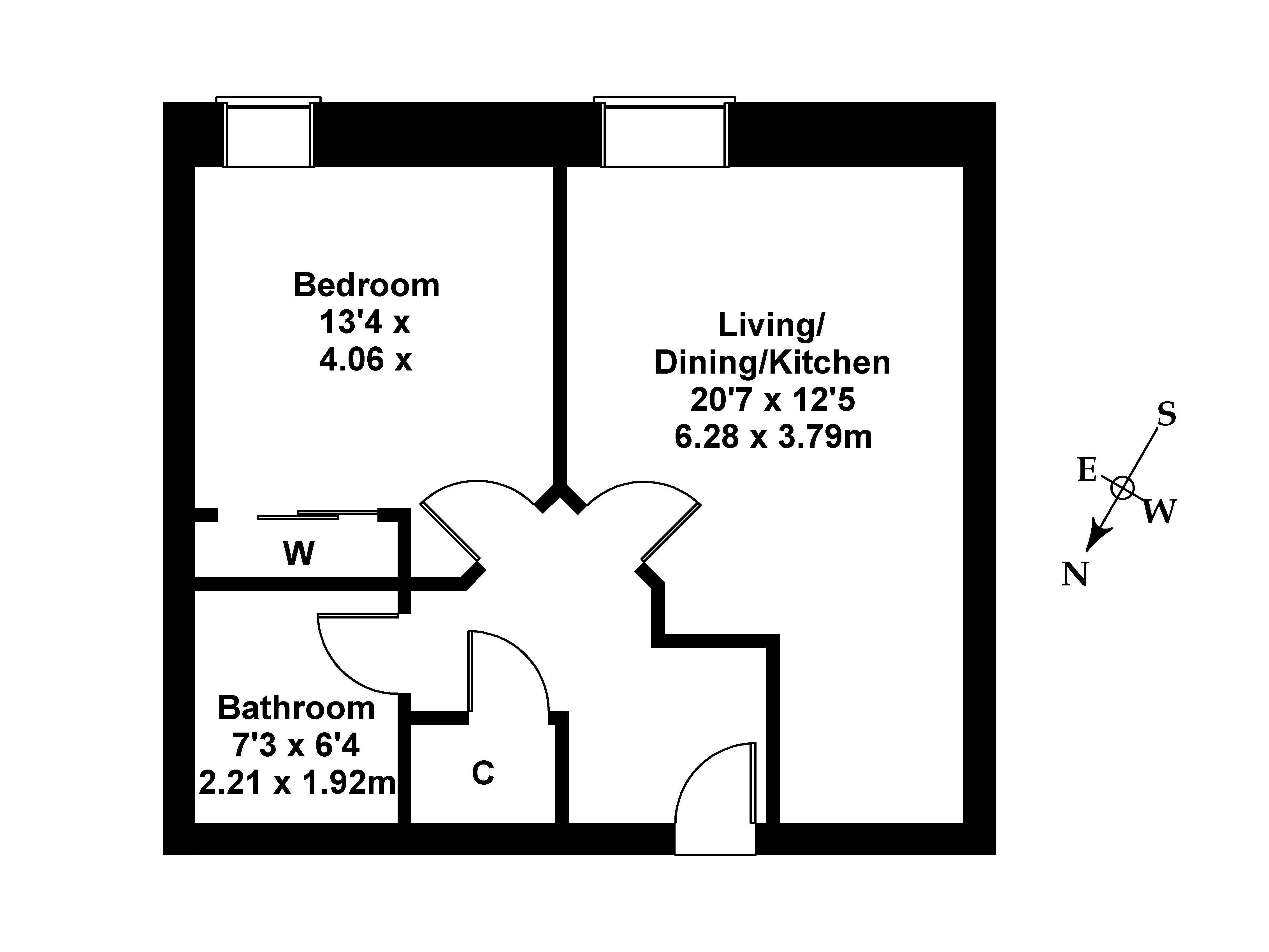 Floorplan 1 of 91/4 Constitution Street, Leith, Edinburgh, EH6 7AE