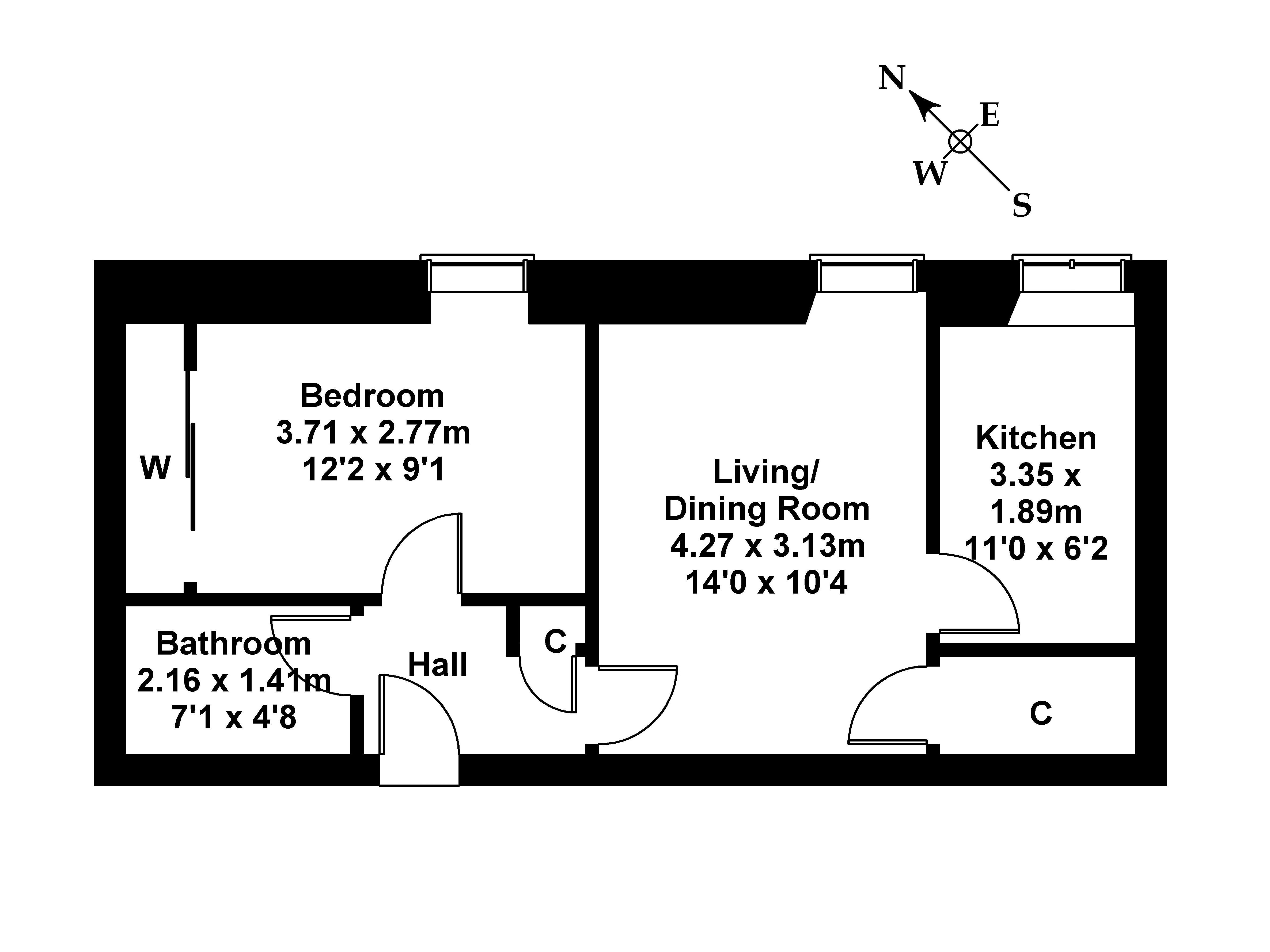 Floorplan 1 of Flat 16, 4 St. Patrick Square, Newington, Edinburgh, EH8 9EZ