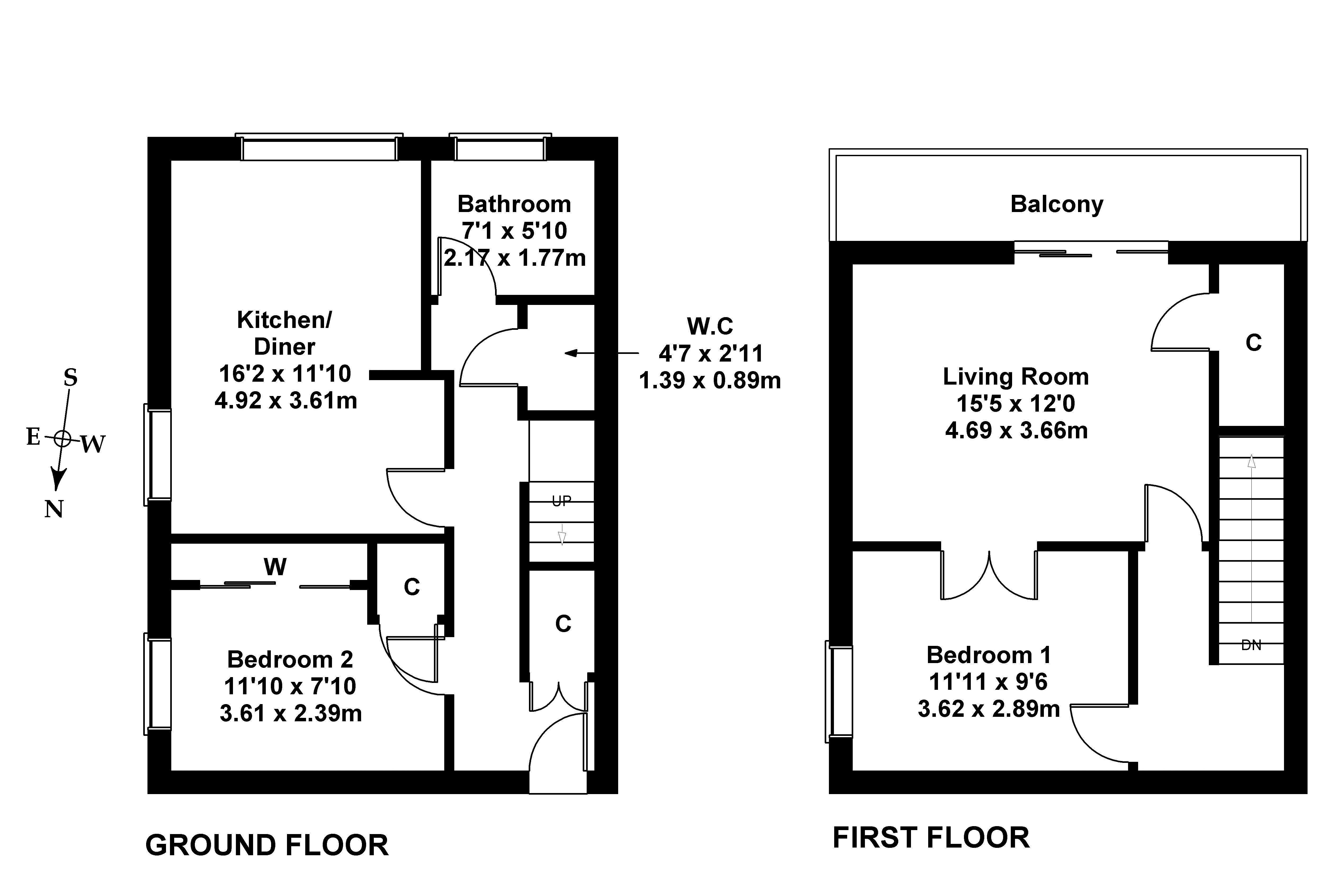 Floorplan 1 of 2v Fair A Far, Cramond, Edinburgh EH4 6QD