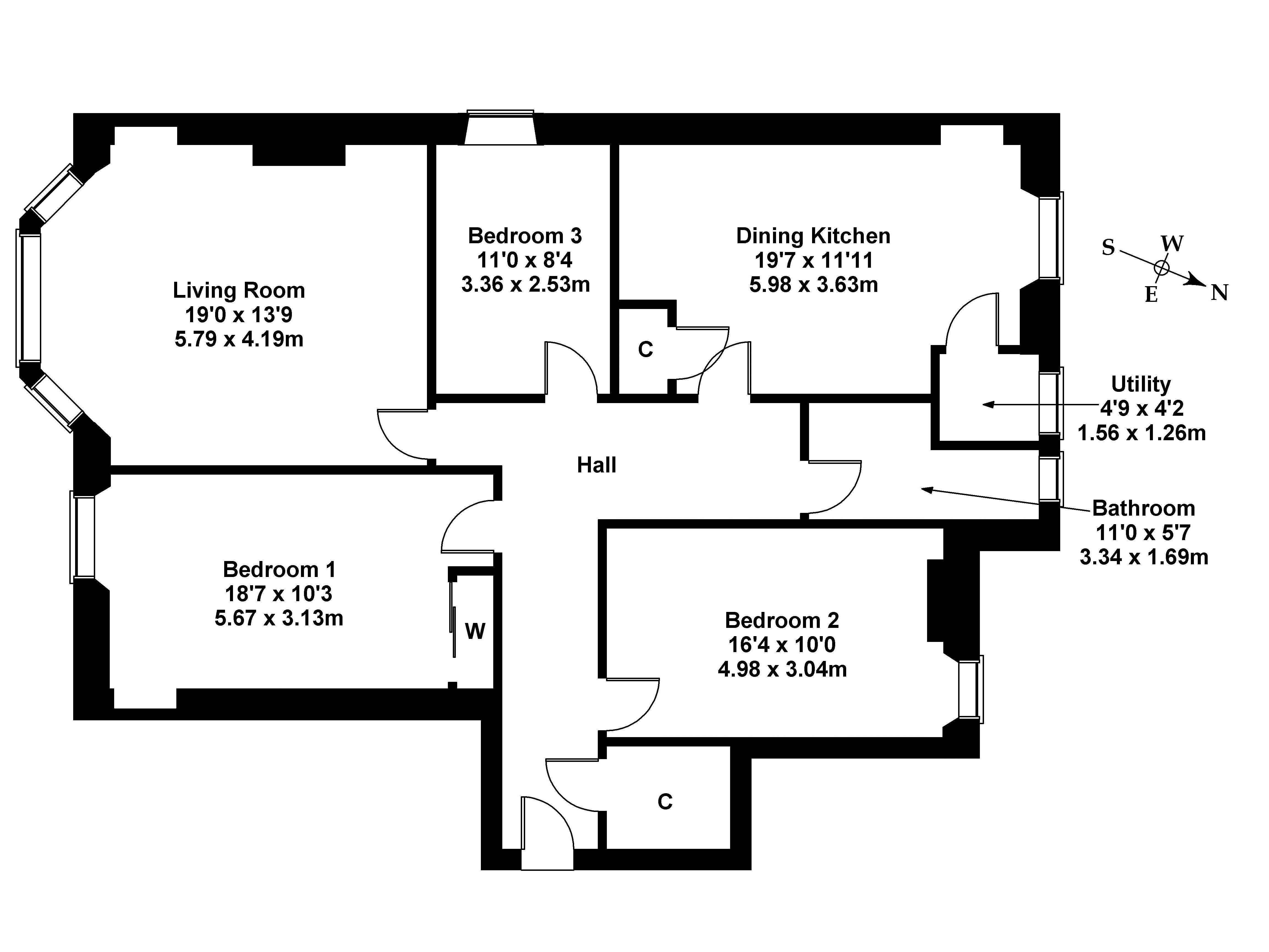 Floorplan 1 of 2F1, 85 Polwarth Gardens, Polwarth, Edinburgh, EH11 1LQ