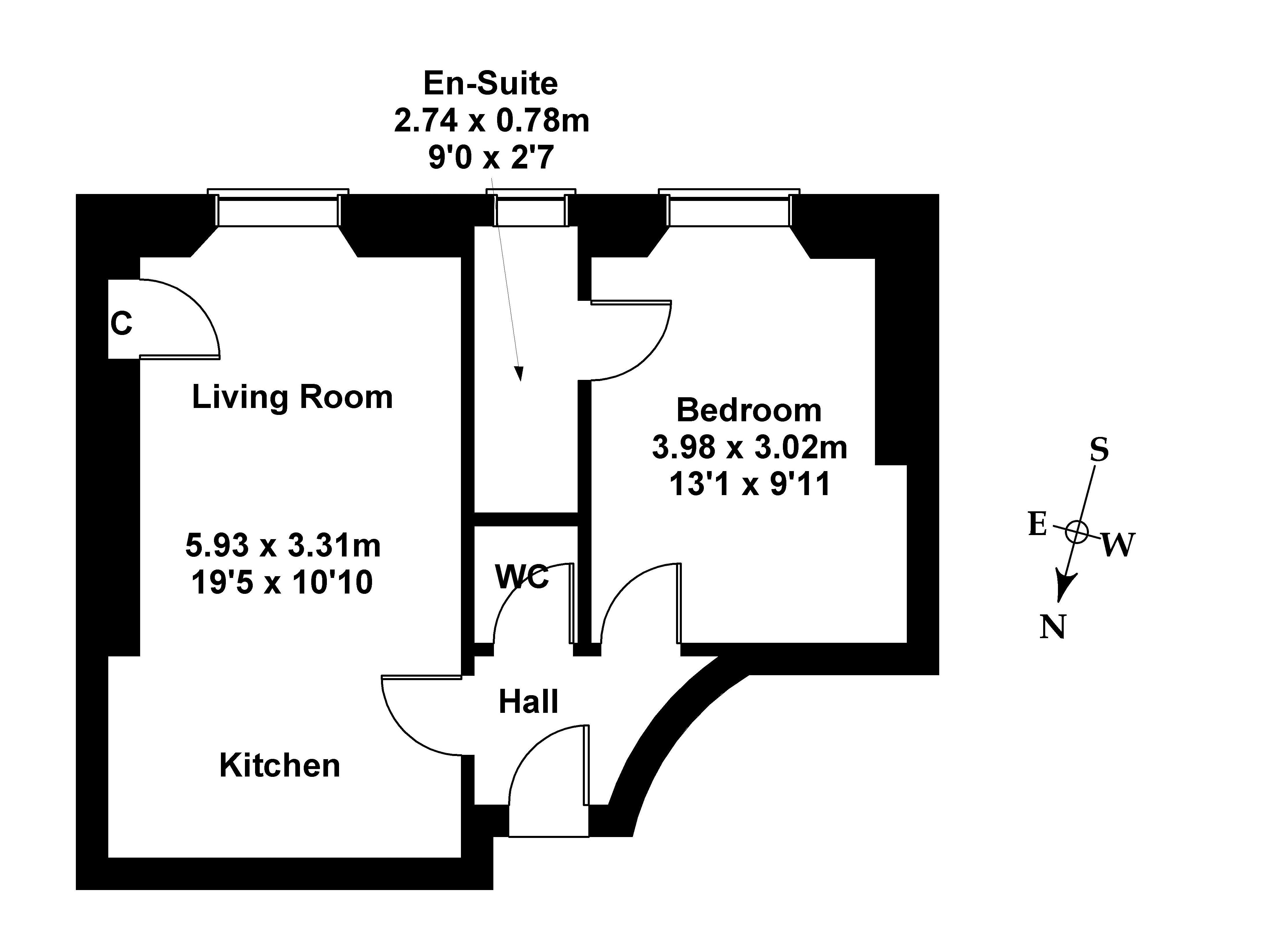 Floorplan 1 of 97/8 Albert Street, Leith, Edinburgh EH7 5LY