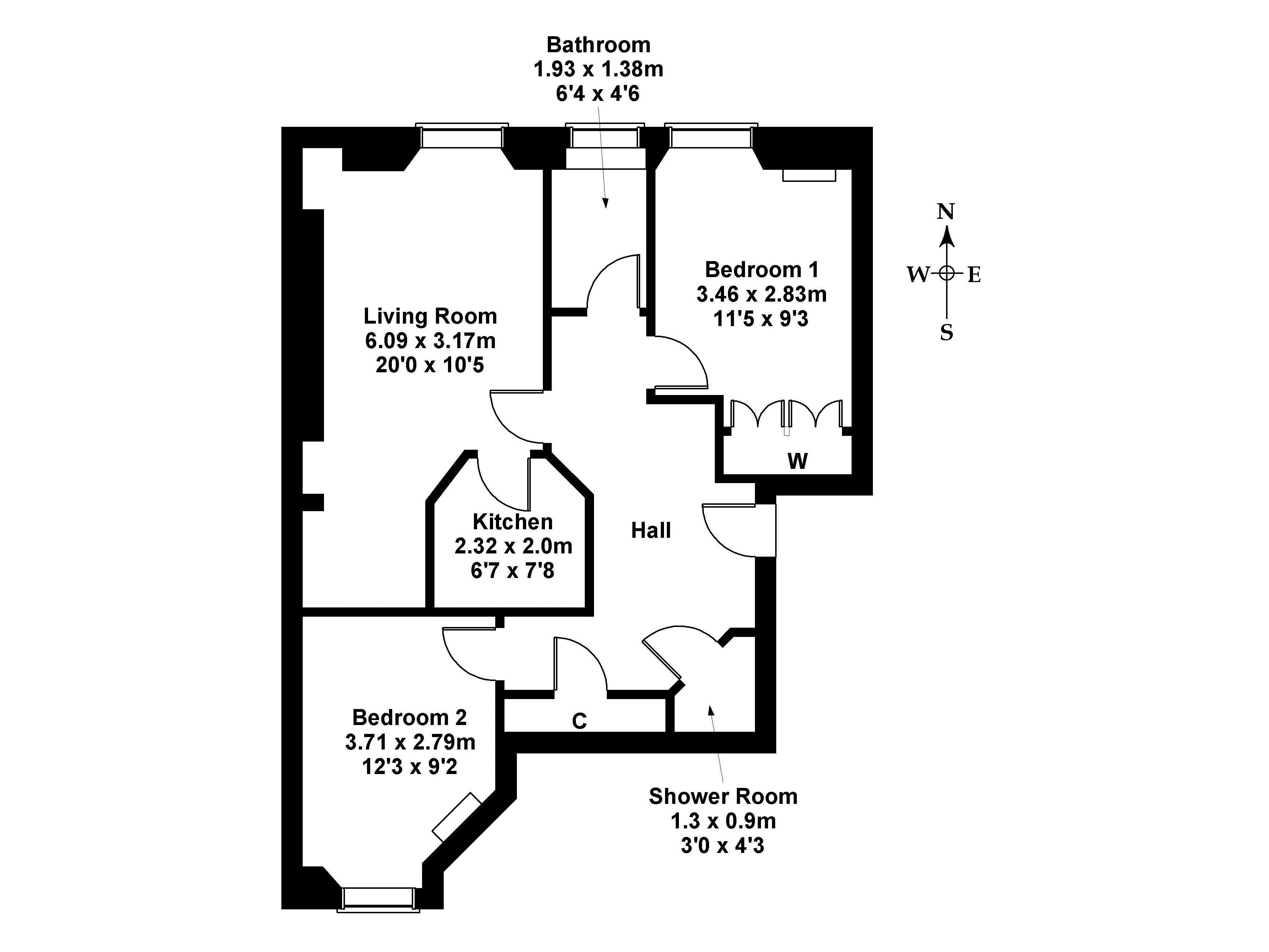 Floorplan 1 of Flat 9, 7 Wheatfield Street, Gorgie, Edinburgh, EH11 2NZ