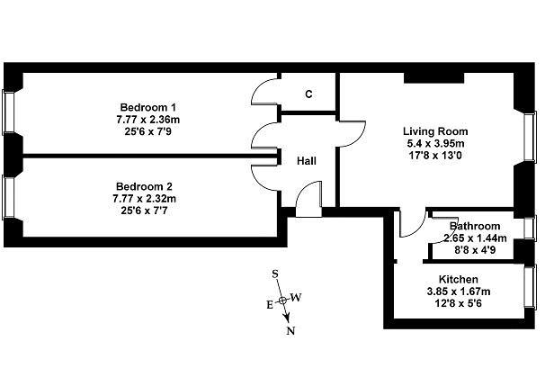 Floorplan 1 of 69/1 East Claremont Street, Bellevue, Edinburgh, EH7 4HU