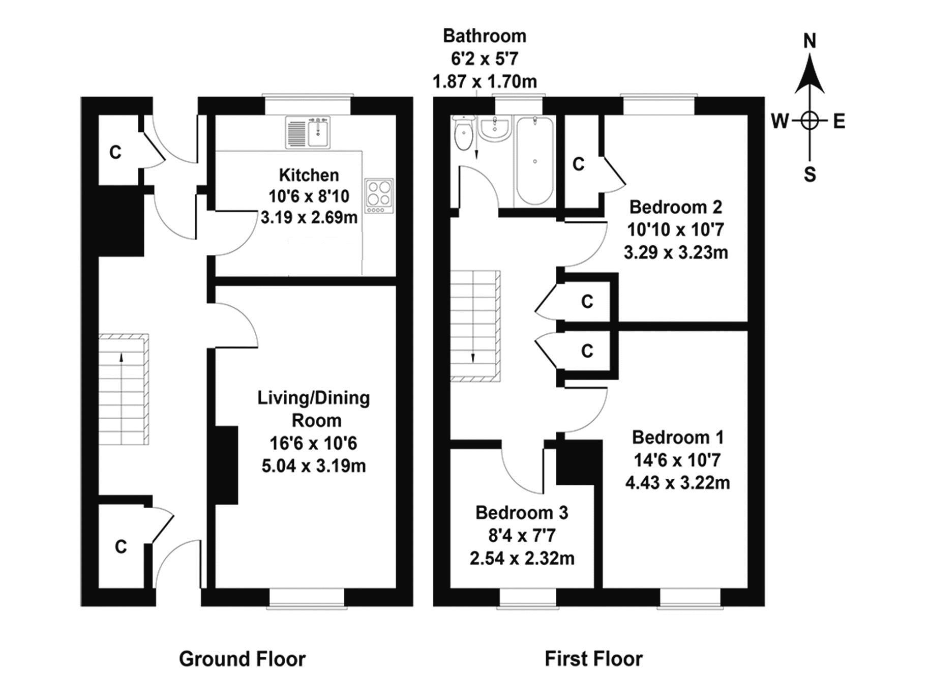 Floorplan 1 of 5 Meggat Place, Penicuik, Midlothian, EH26 8HG