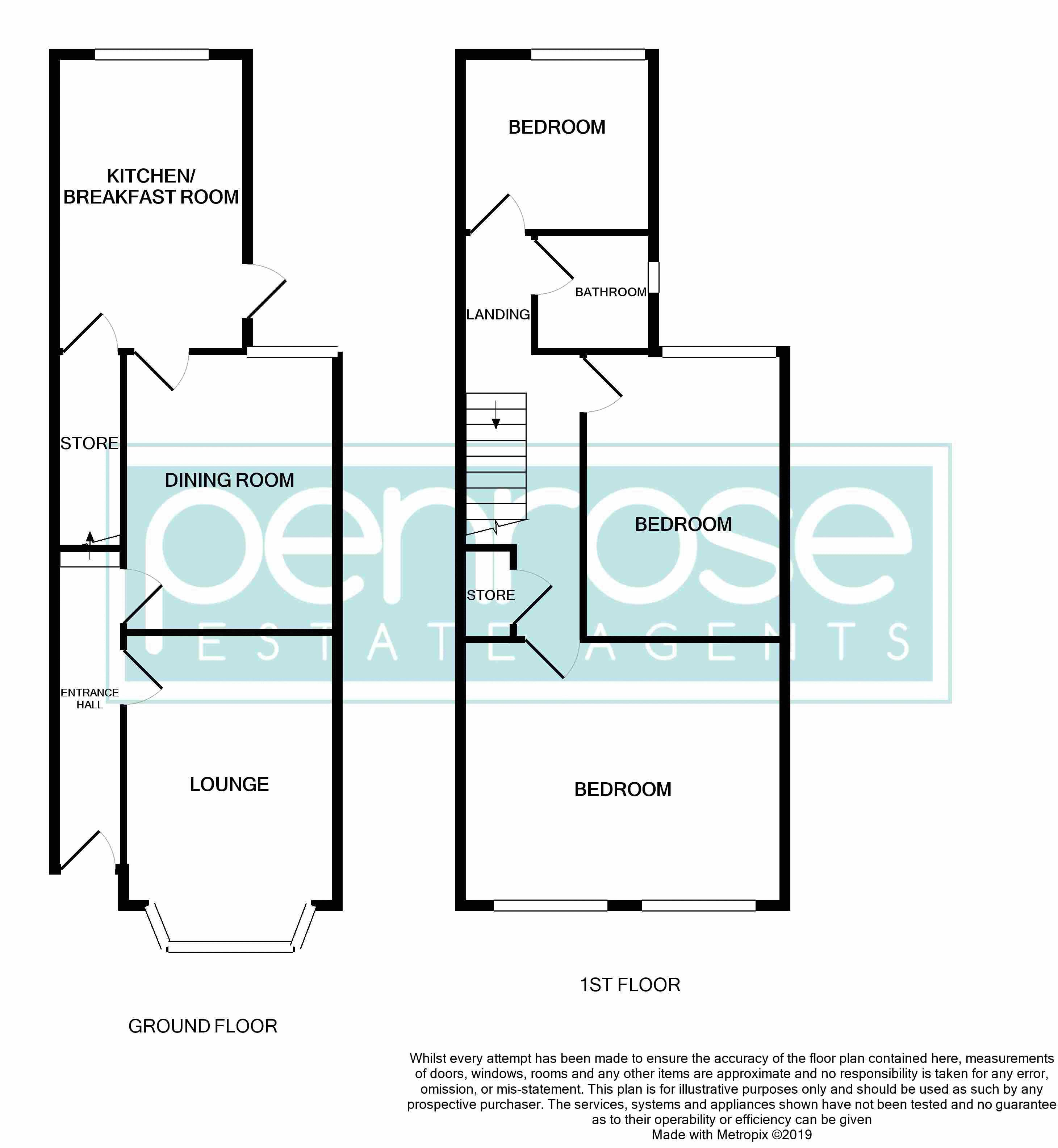 3 bedroom End Terrace to buy in Tennyson Road, Luton Floorplan