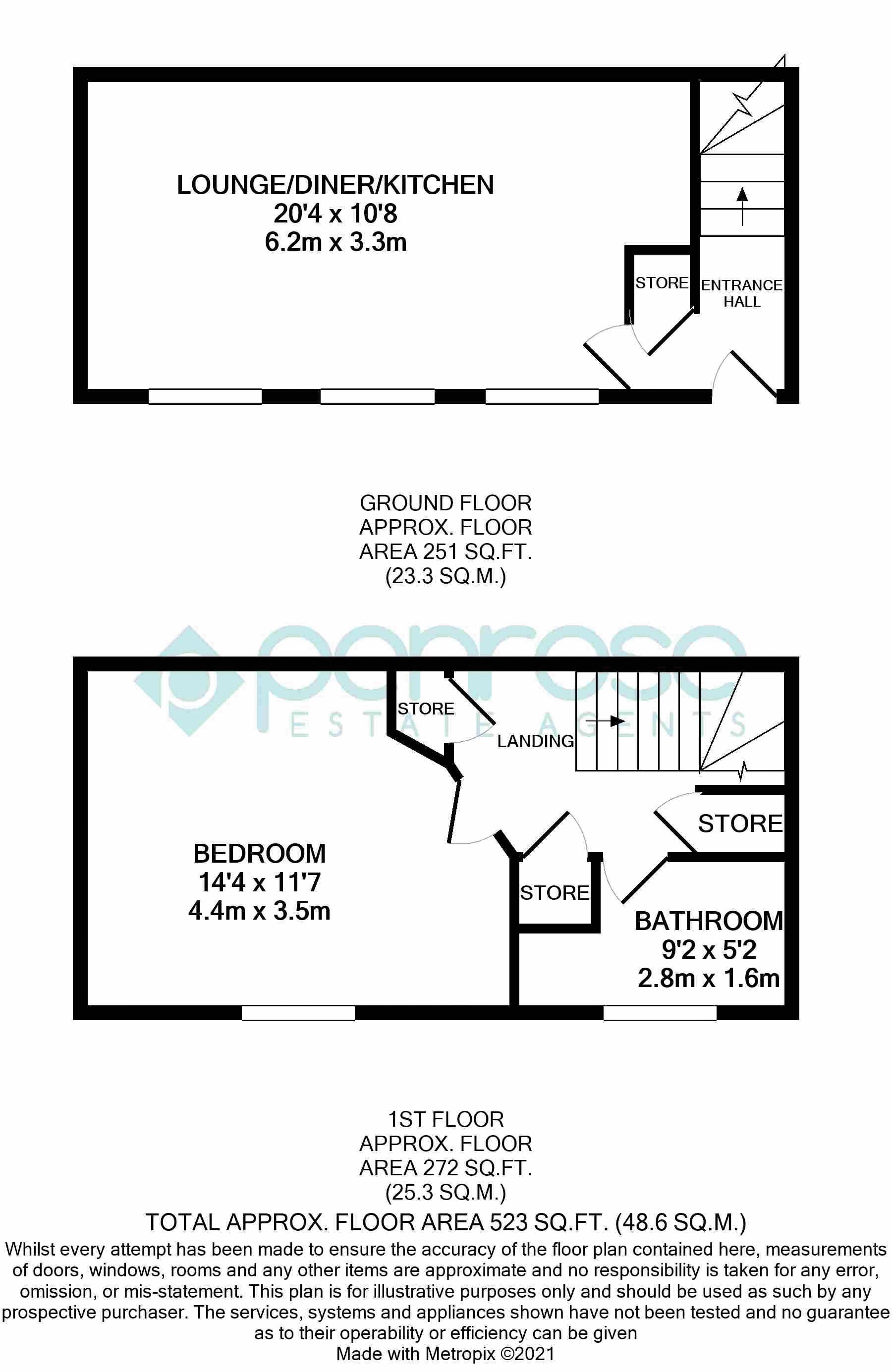 1 bedroom Maisonette to buy in Kingham Way, Luton Floorplan