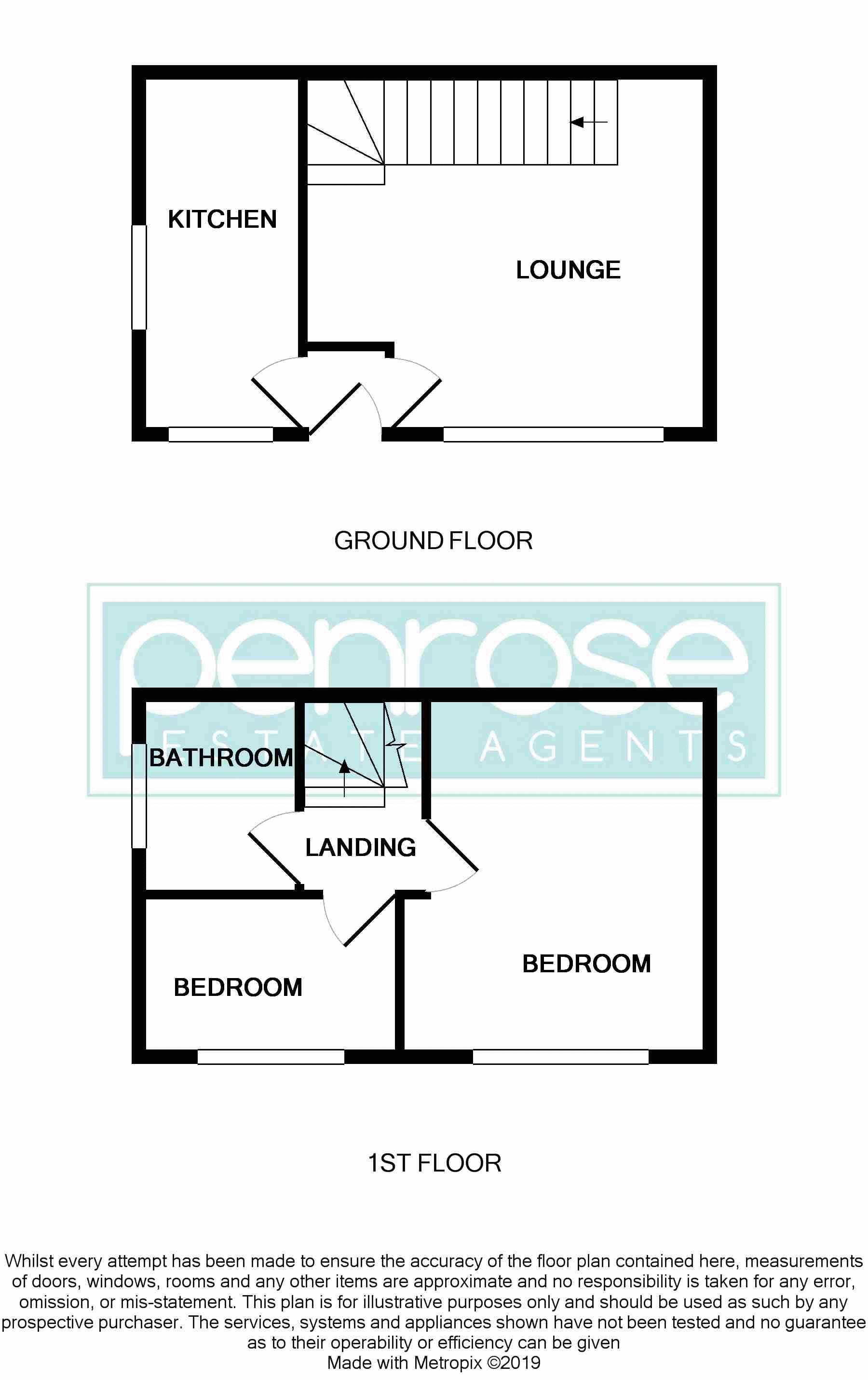 2 bedroom End Terrace to buy in Cheslyn Close, Luton Floorplan
