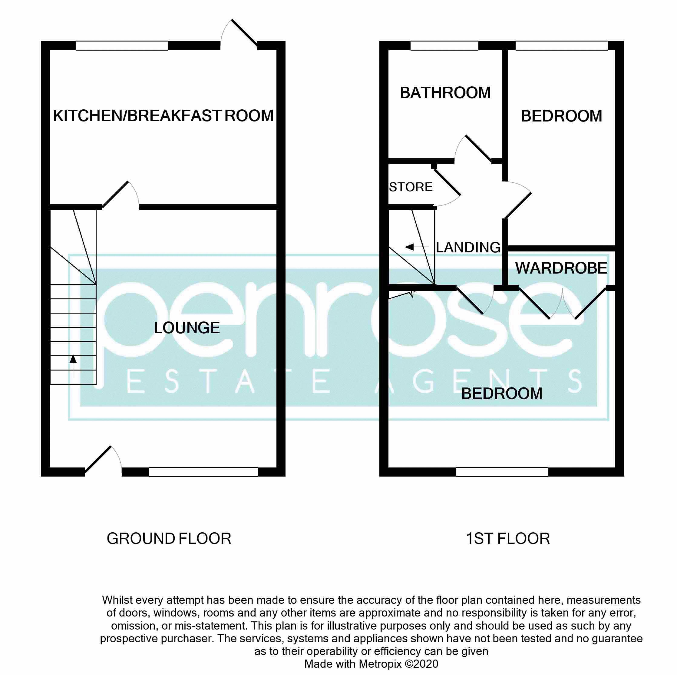 2 bedroom Mid Terrace to buy in The Belfry, Luton Floorplan