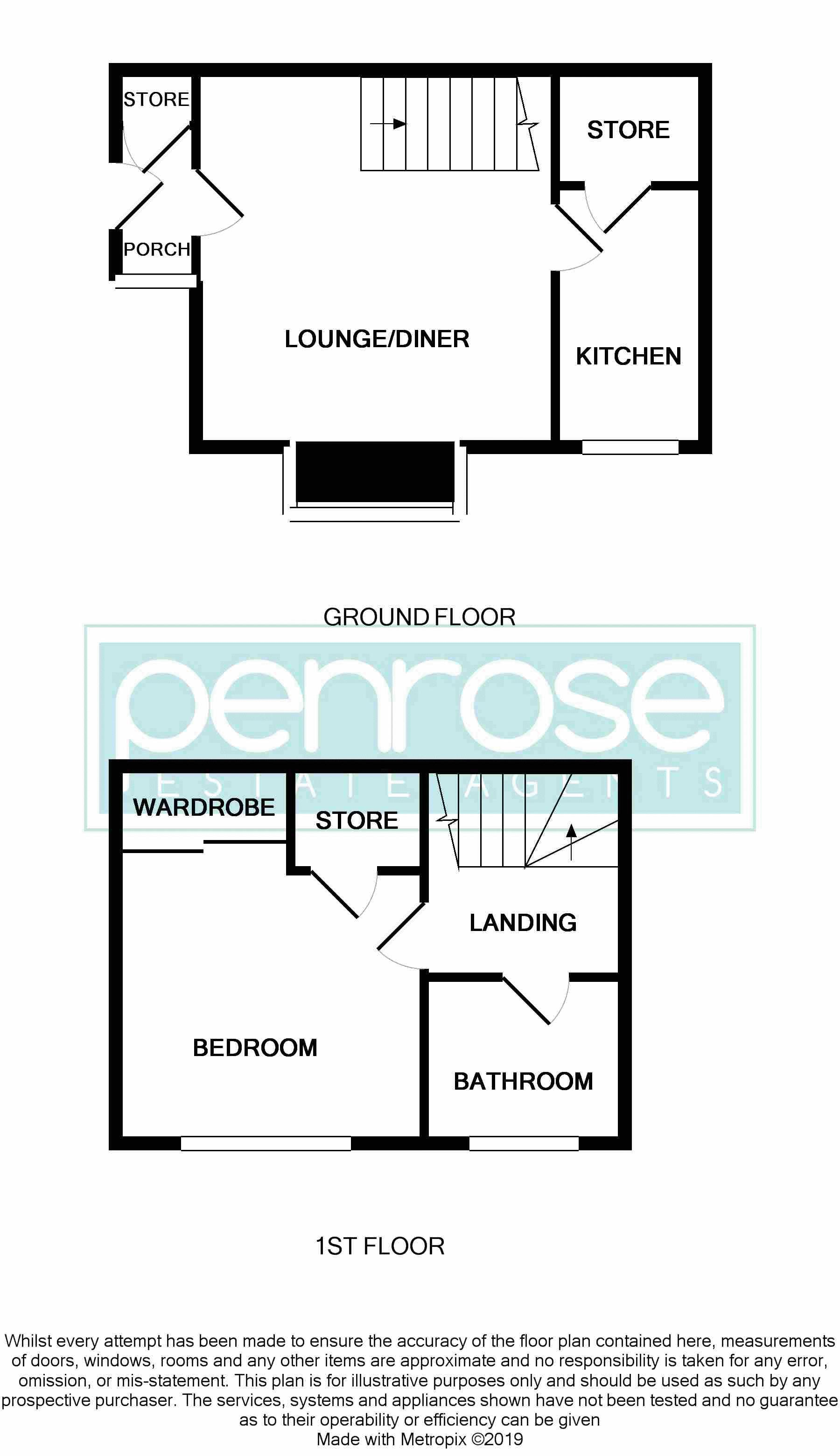1 bedroom End Terrace to buy in Sharples Green, Luton Floorplan