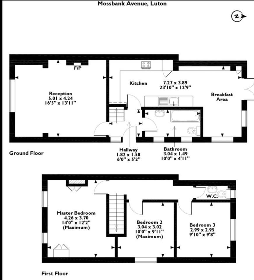 3 bedroom Semi-Detached  to rent in Mossbank Avenue, Luton