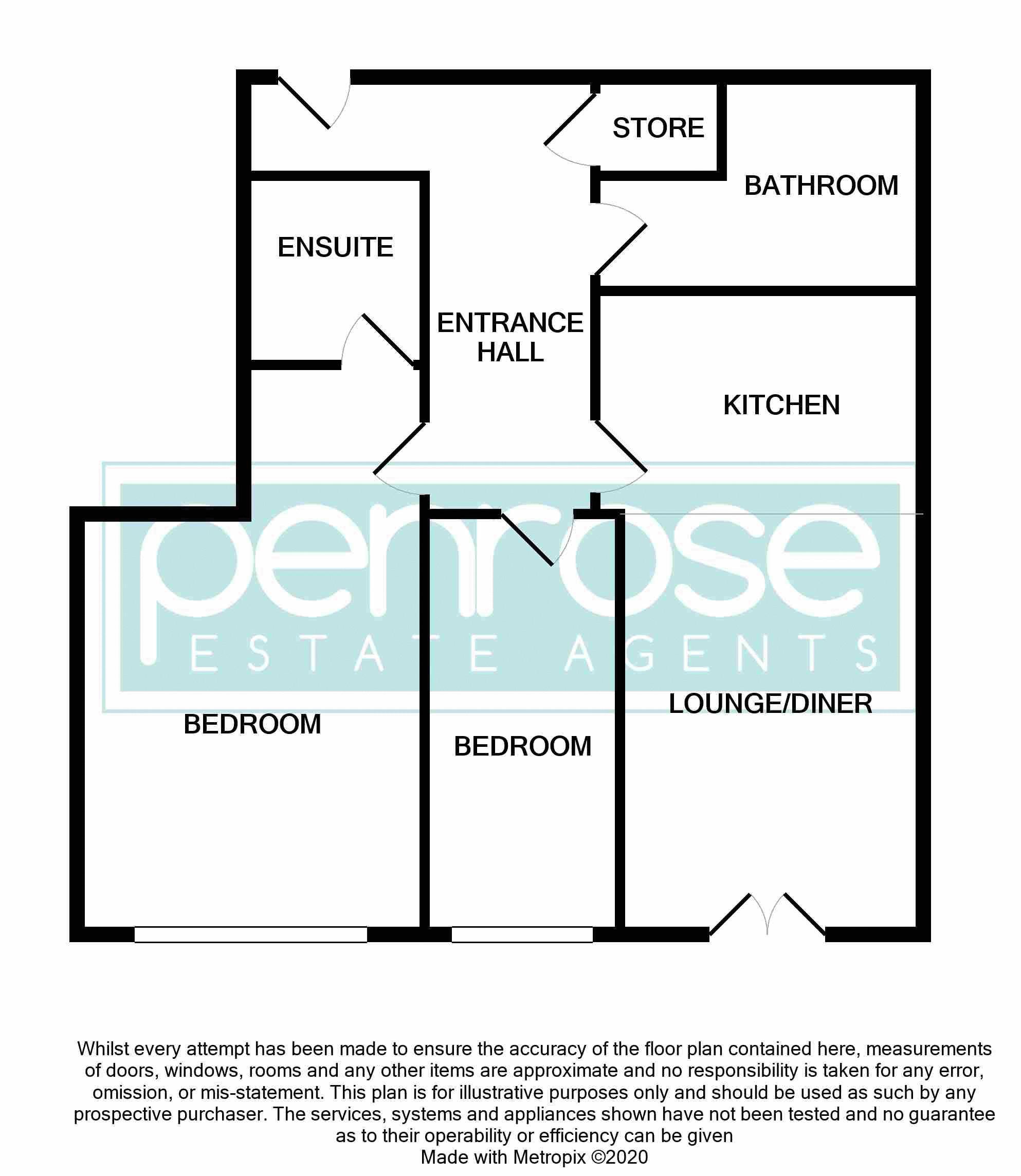 2 bedroom Flat to buy in Union Street, Luton Floorplan