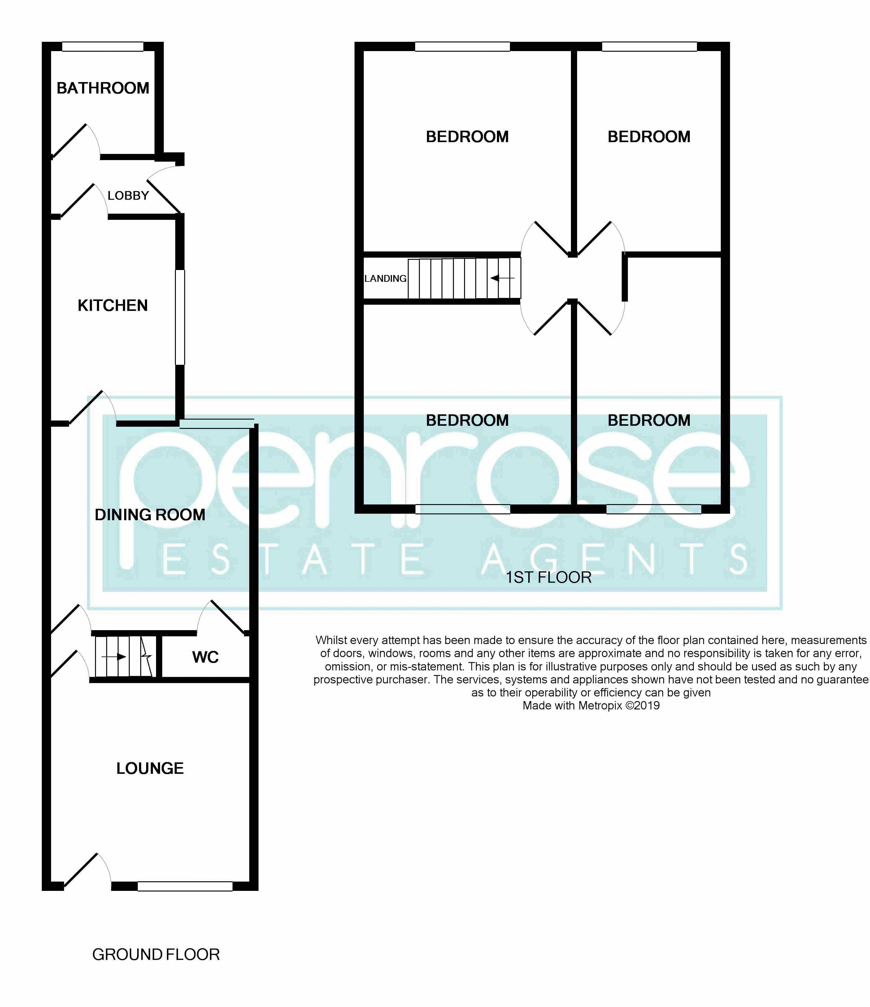 4 bedroom Mid Terrace to buy in Ridgway Road, Luton Floorplan