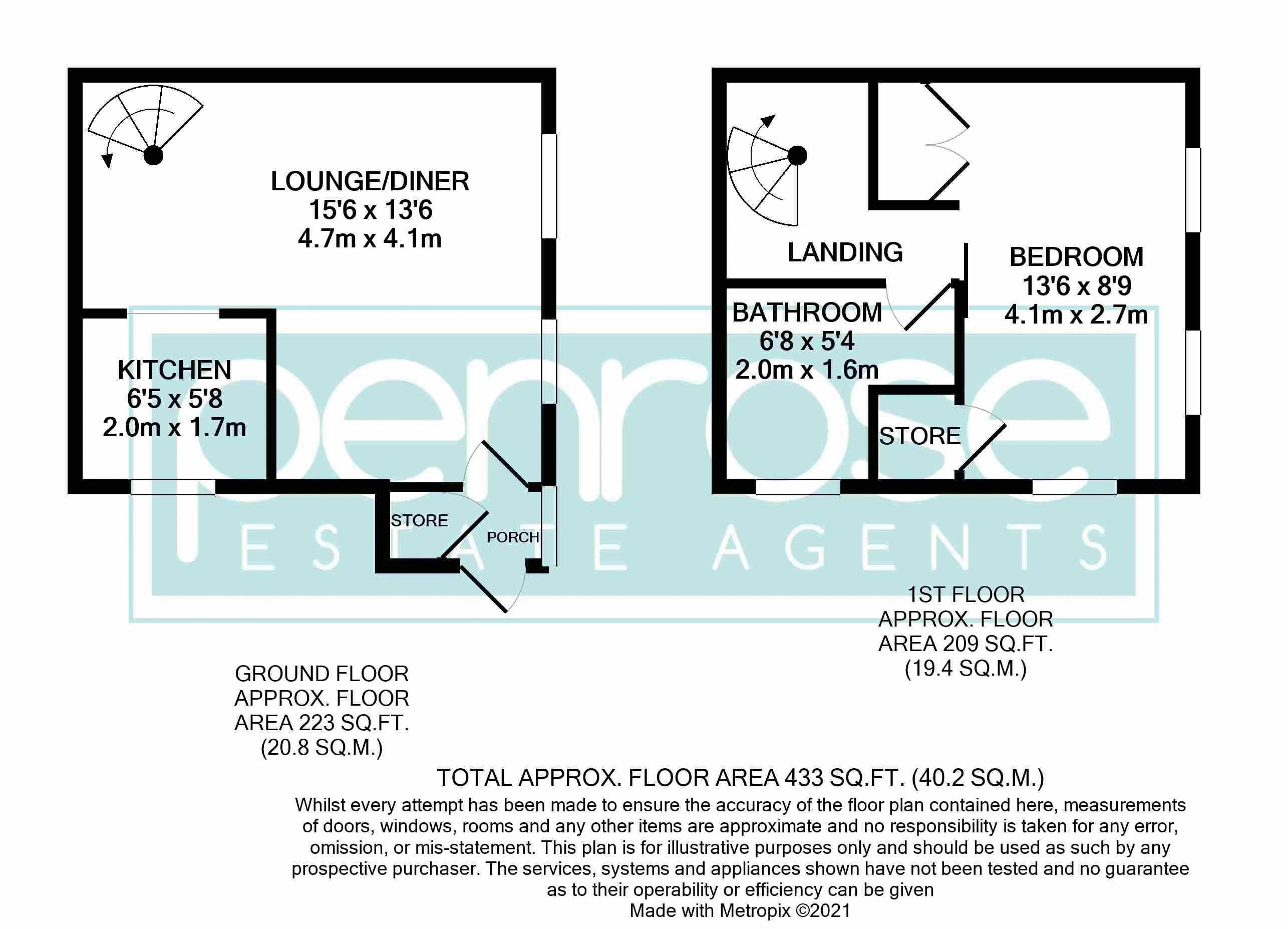 1 bedroom End Terrace to buy in Dexter Close, Luton Floorplan
