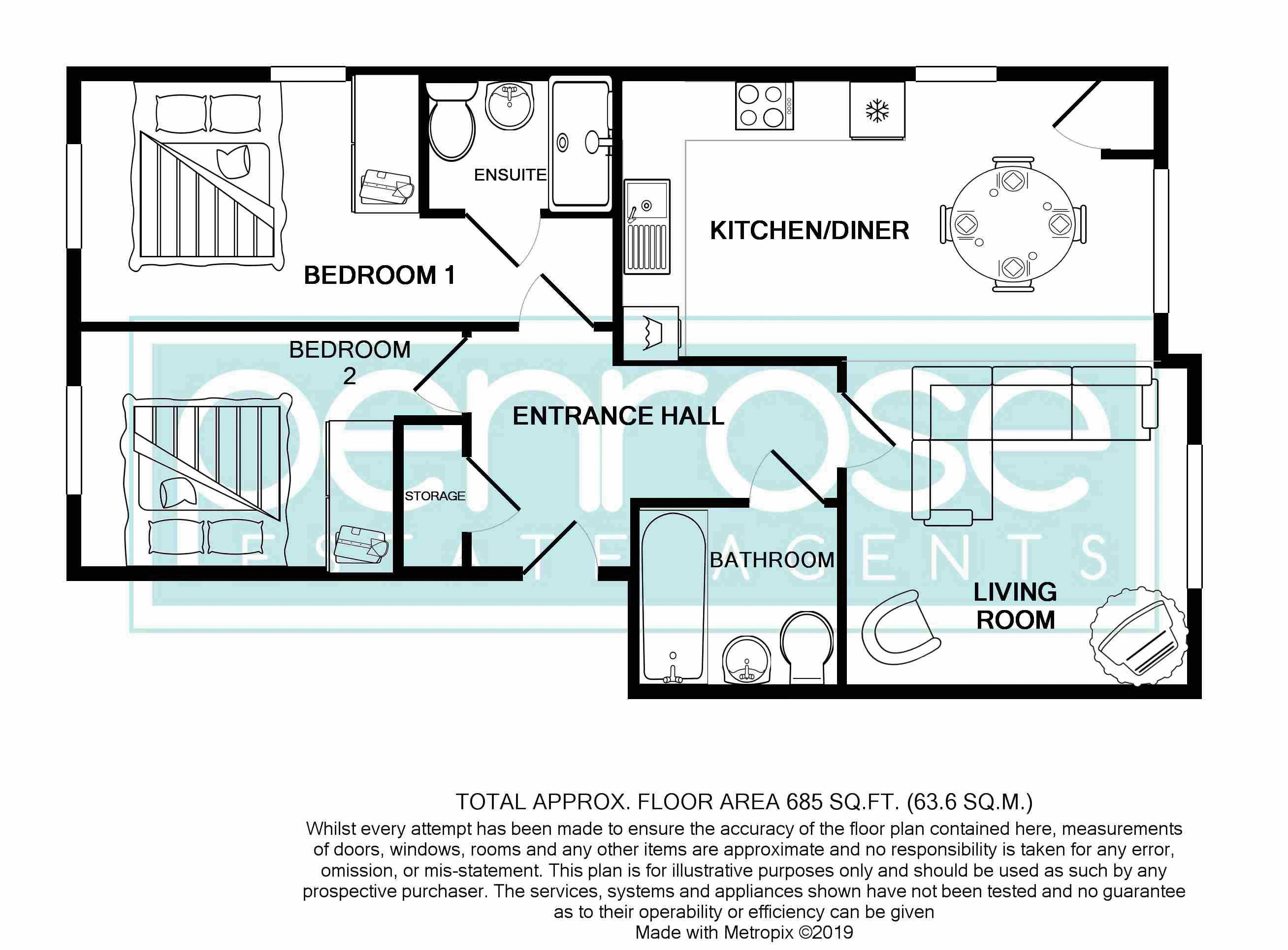 2 bedroom Flat to rent in Ridgway Road, Luton