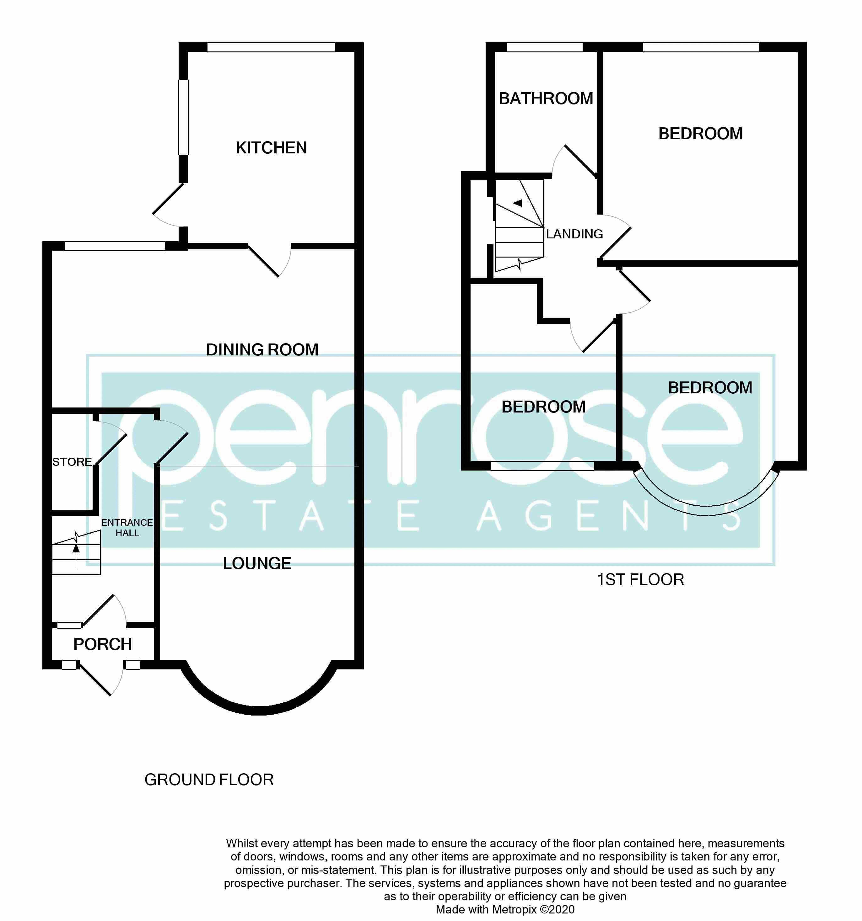 3 bedroom Mid Terrace to buy in Pembroke Avenue, Luton Floorplan