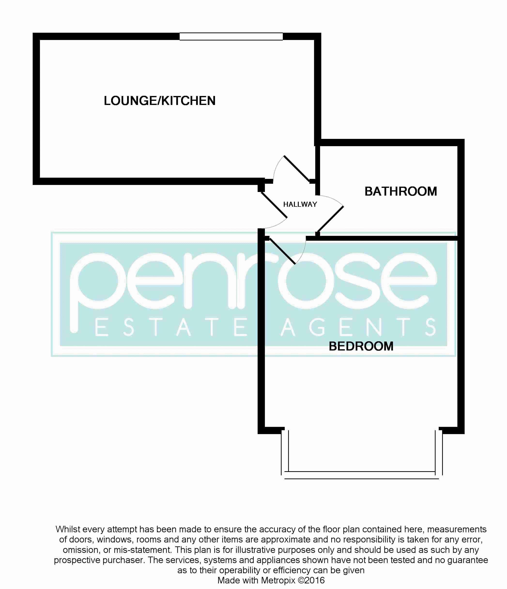 1 bedroom Flat to rent in New Bedford Road, Luton Floorplan
