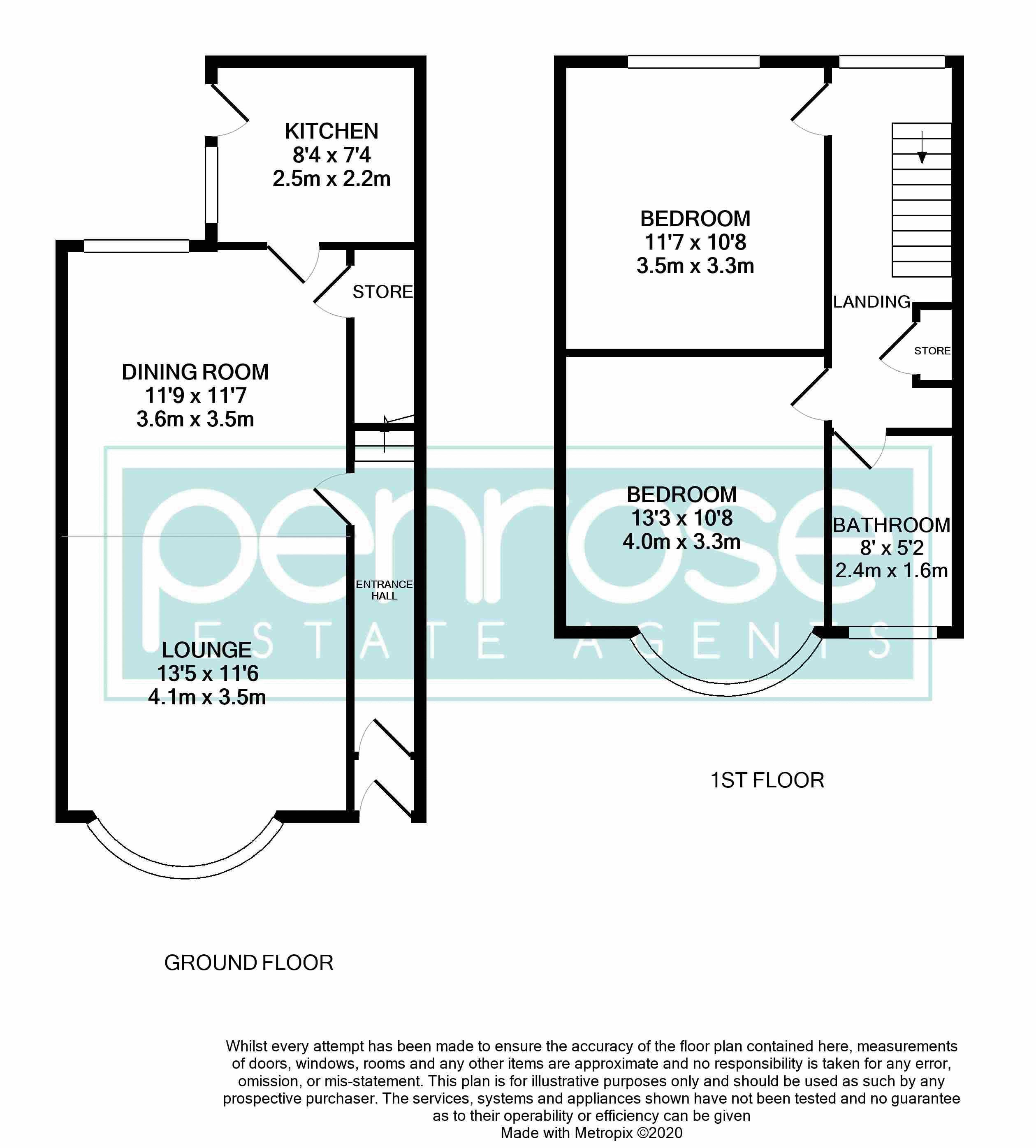 2 bedroom Mid Terrace to buy in Woodbury Hill, Luton Floorplan