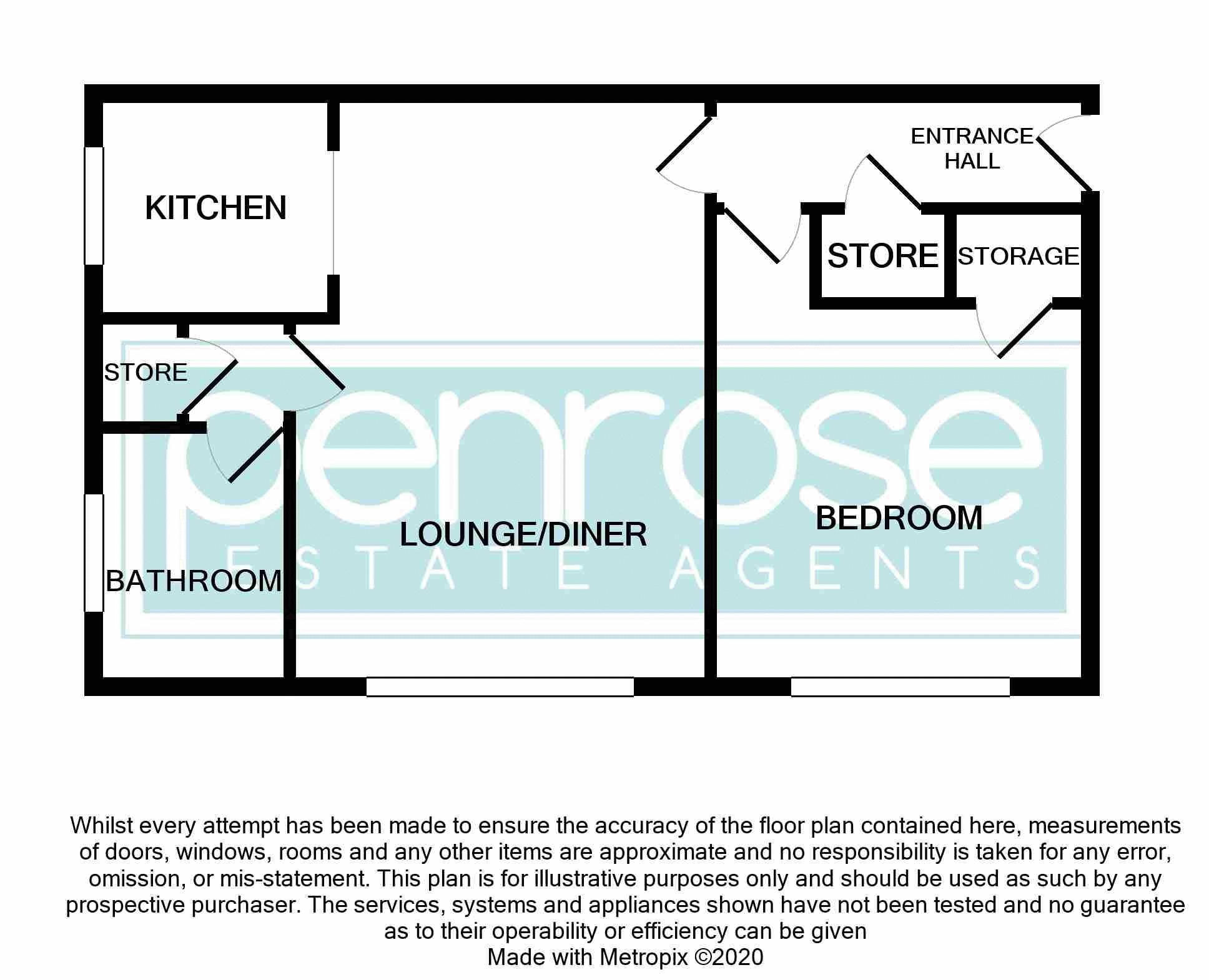 1 bedroom Flat to buy in Ketton Close, Luton Floorplan