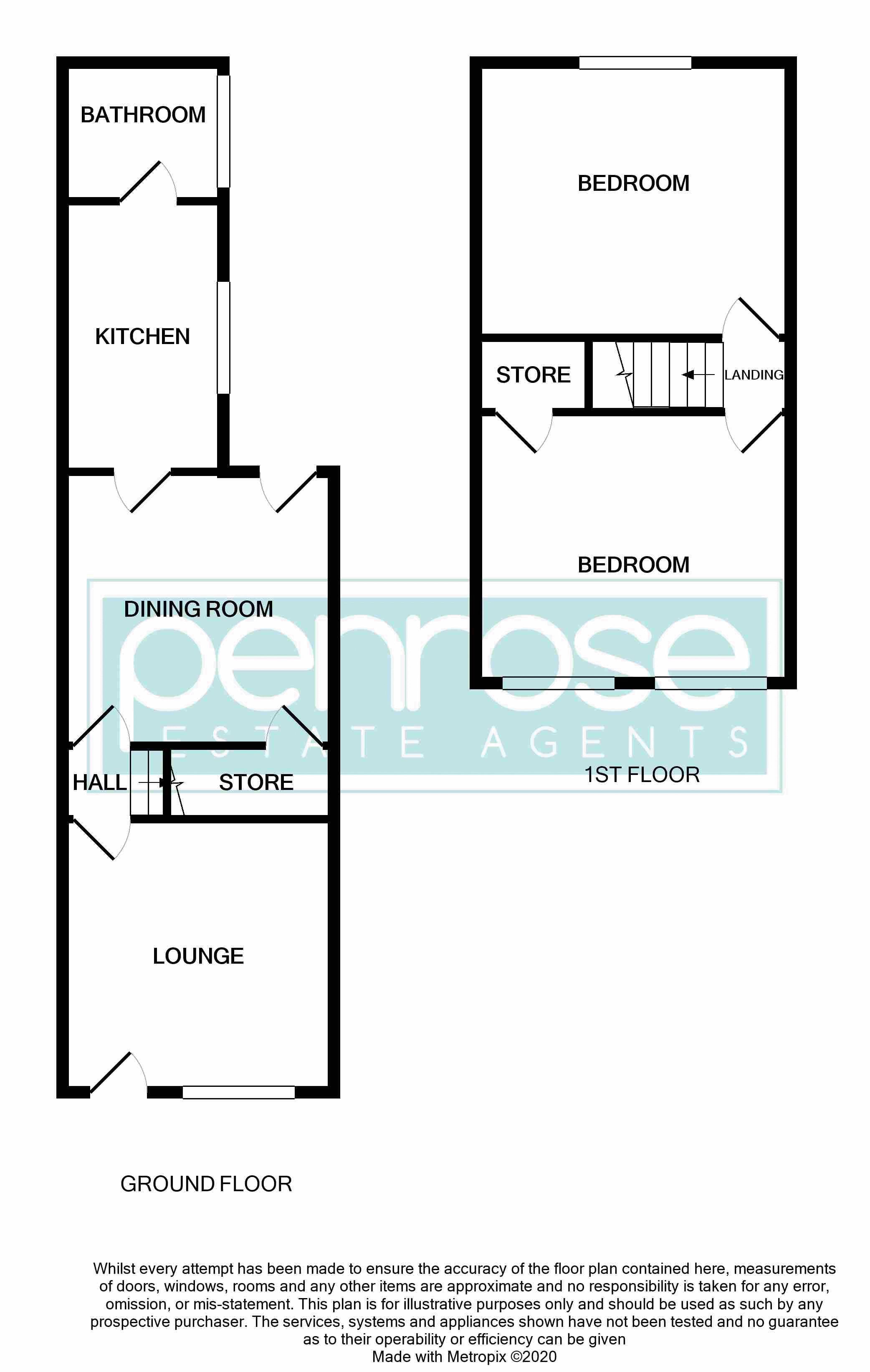 2 bedroom Mid Terrace to buy in Hartley Road, Luton Floorplan