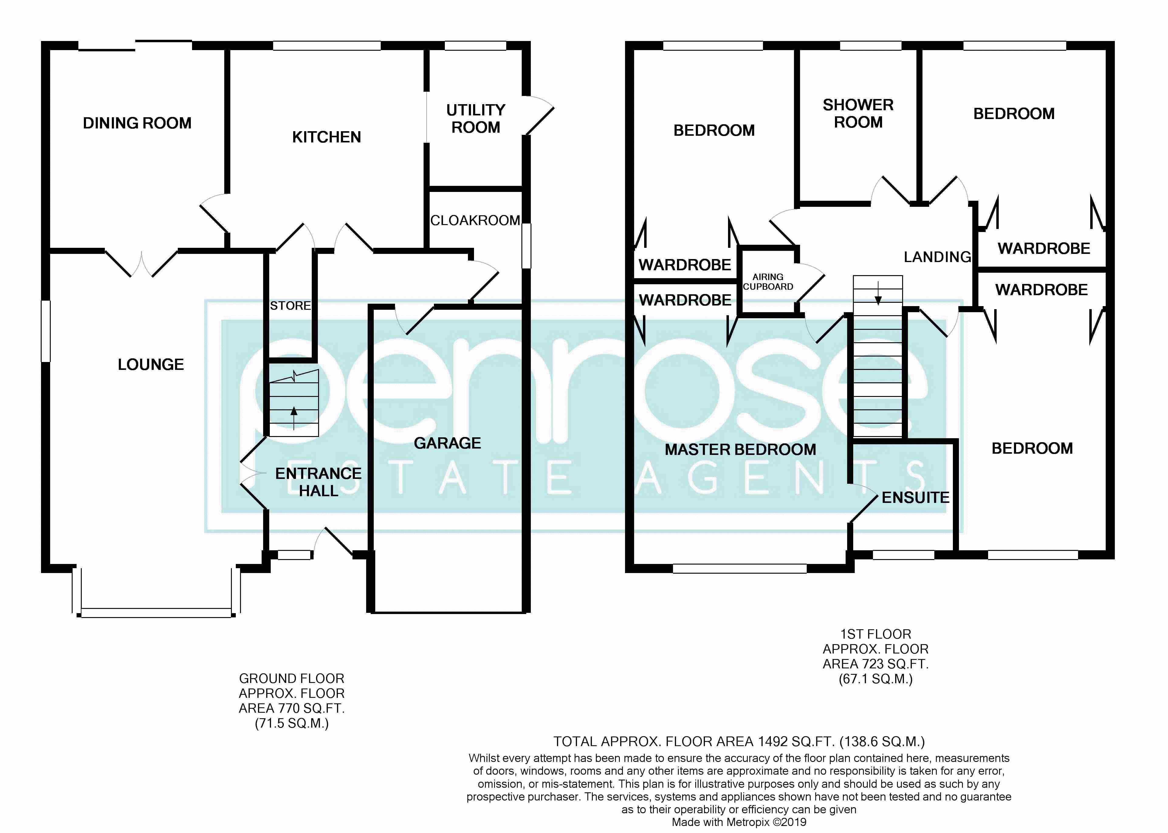 4 bedroom Detached  to buy in Kilmarnock Drive, Luton Floorplan