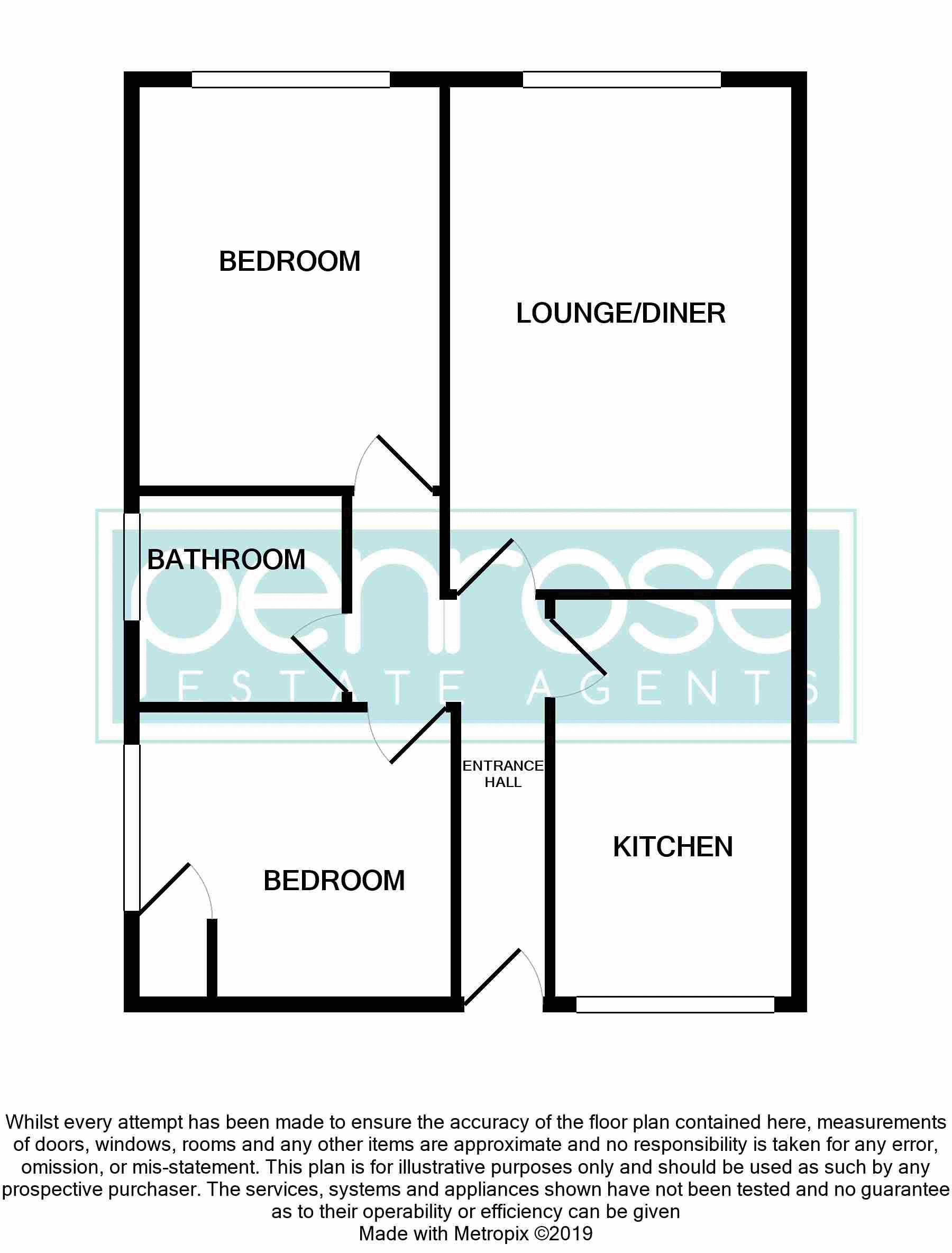 2 bedroom Flat to buy in Moulton Rise, Luton Floorplan