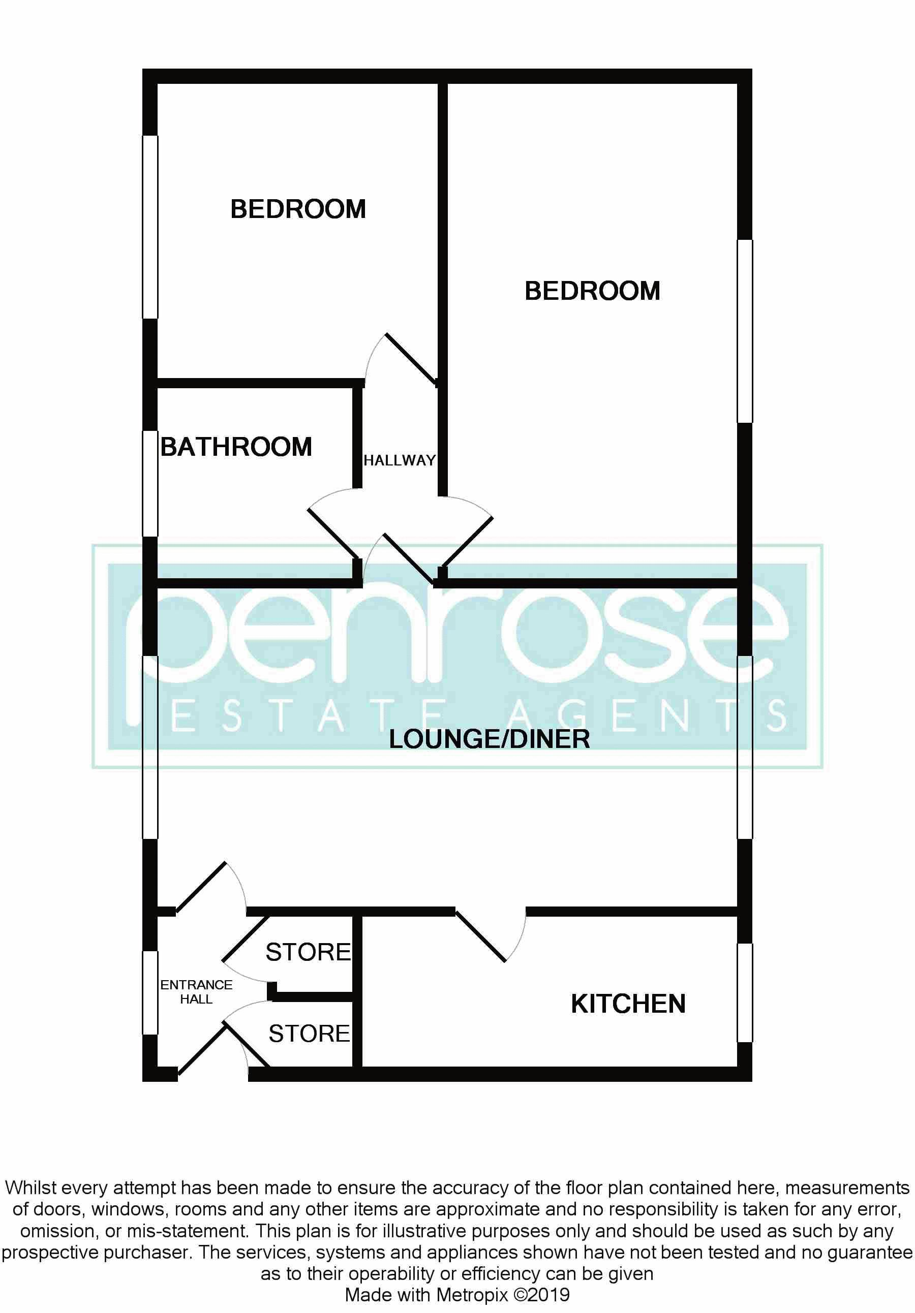 2 bedroom Flat to buy in Downs Road, Luton Floorplan