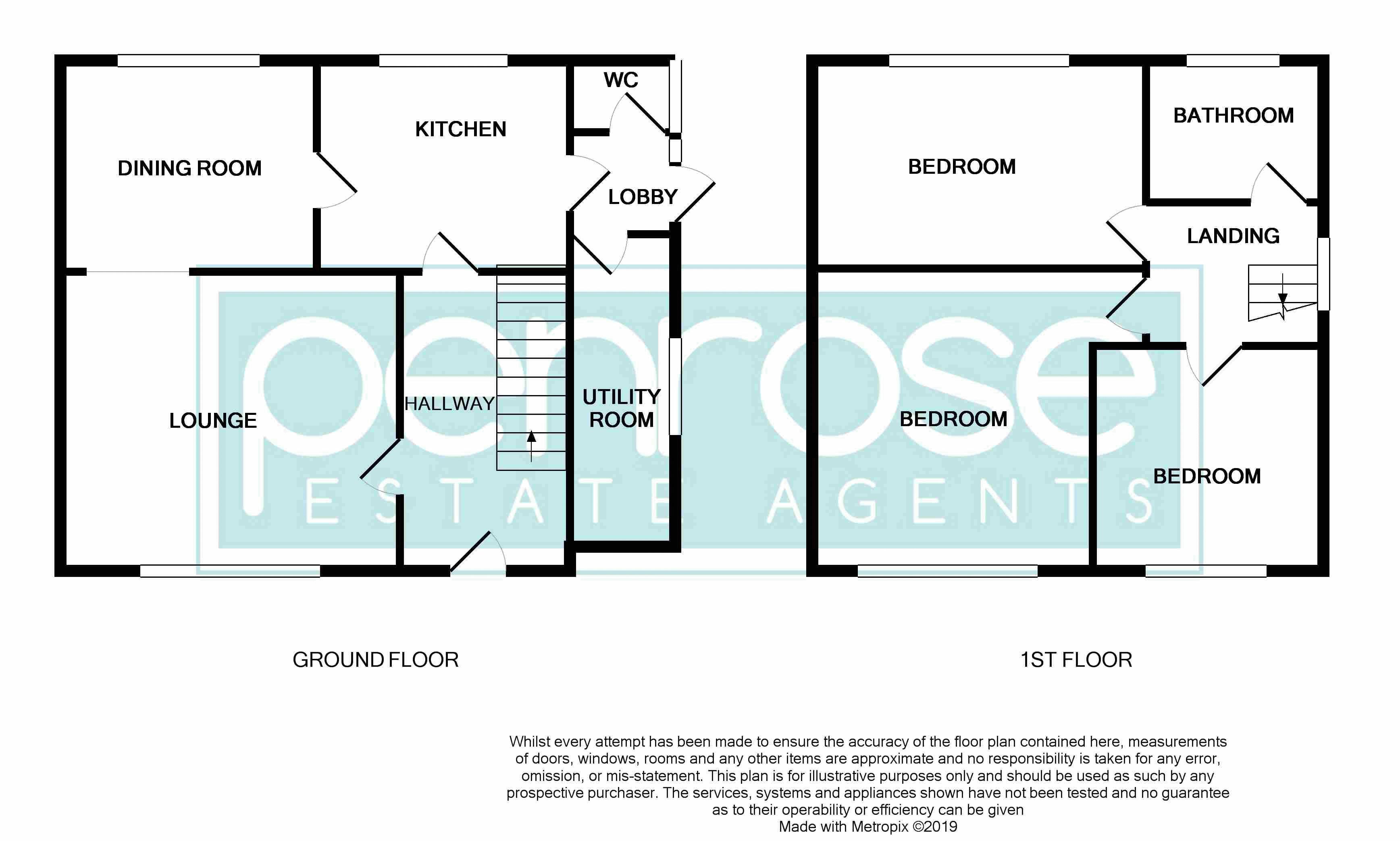 3 bedroom Semi-Detached  to buy in Williton Road, Luton Floorplan