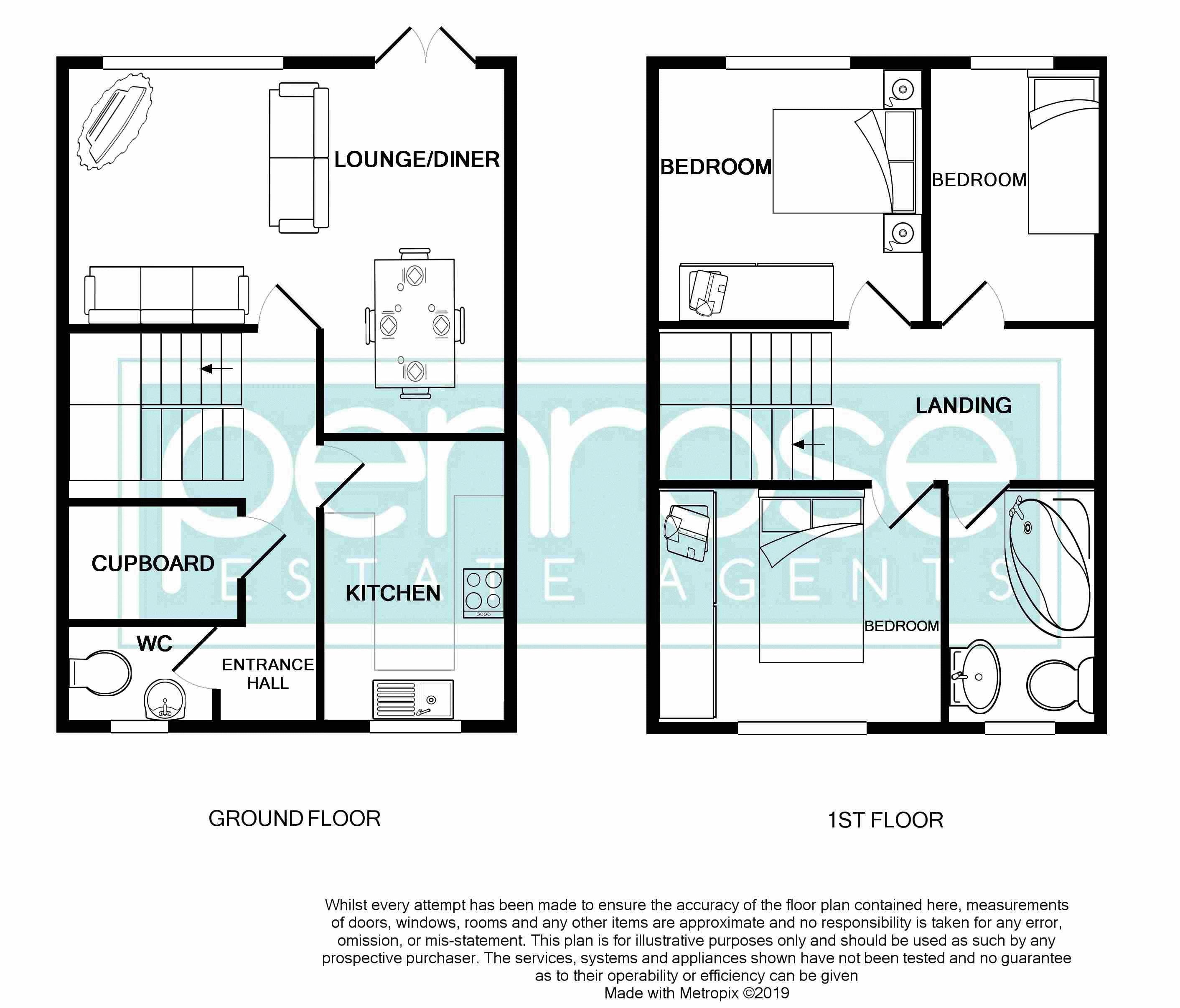 3 bedroom Mid Terrace to buy in Kestrel Way, Luton Floorplan