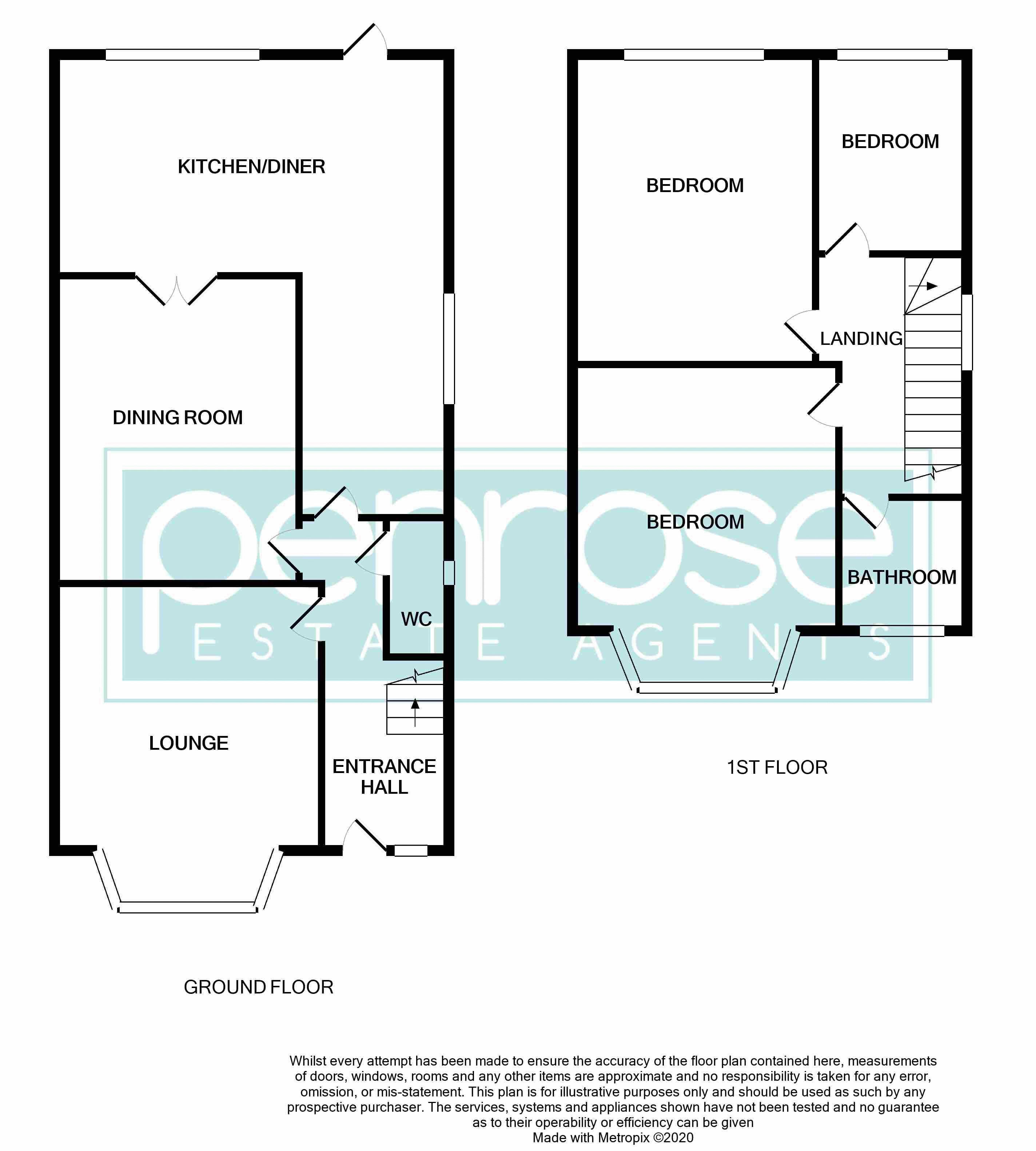 3 bedroom Semi-Detached  to buy in Beechwood Road, Luton Floorplan