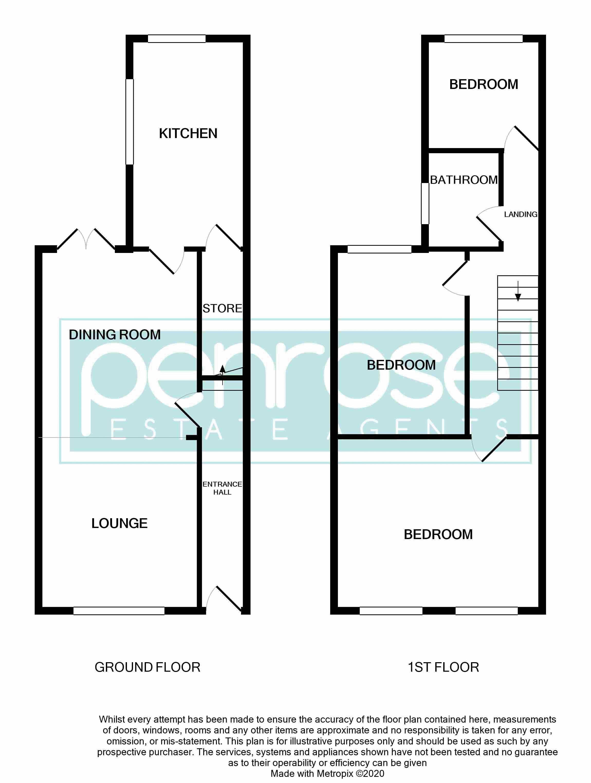 3 bedroom Mid Terrace to buy in Tennyson Road, Luton Floorplan