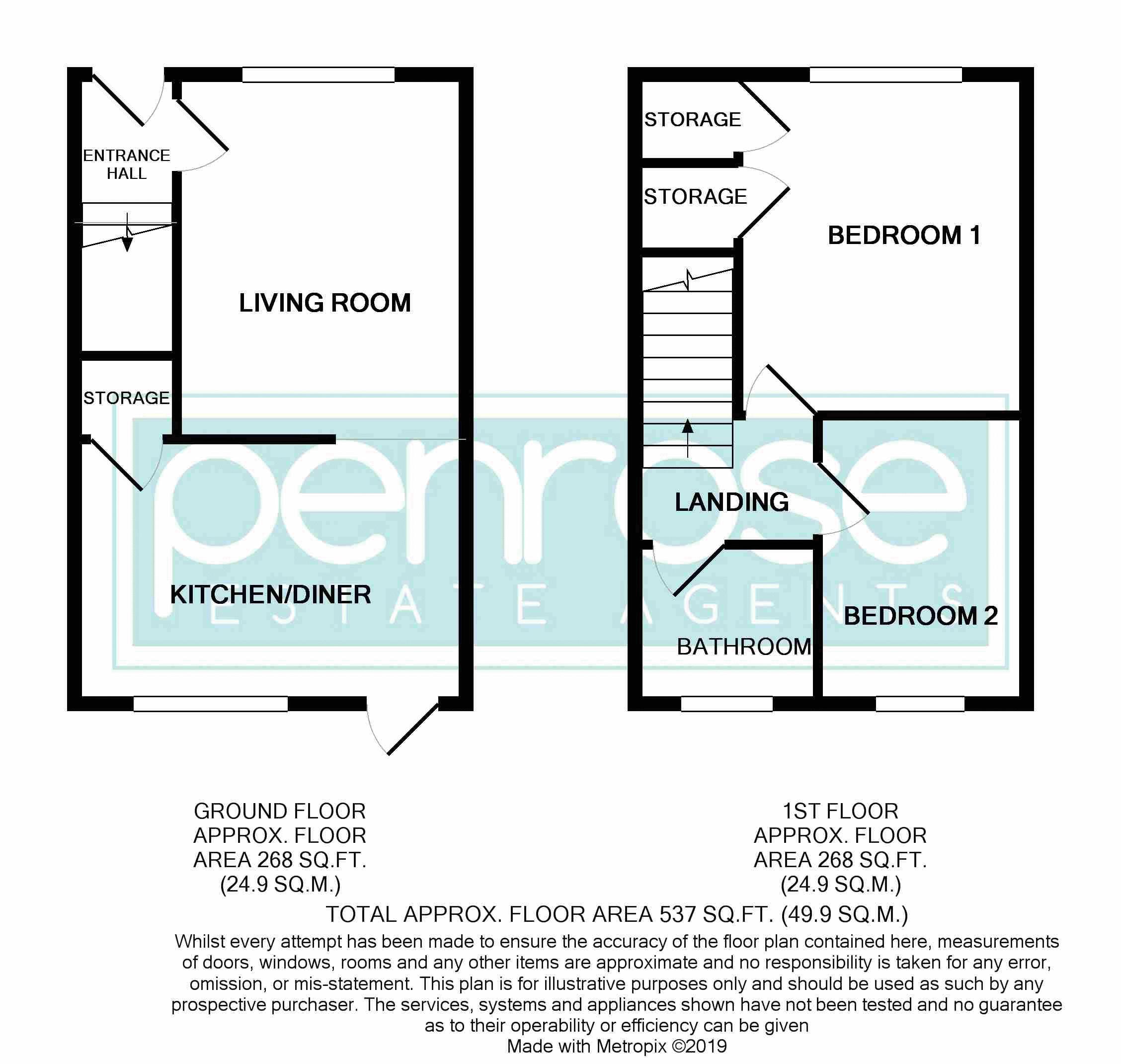 2 bedroom Mid Terrace to rent in Fareham Way, Dunstable