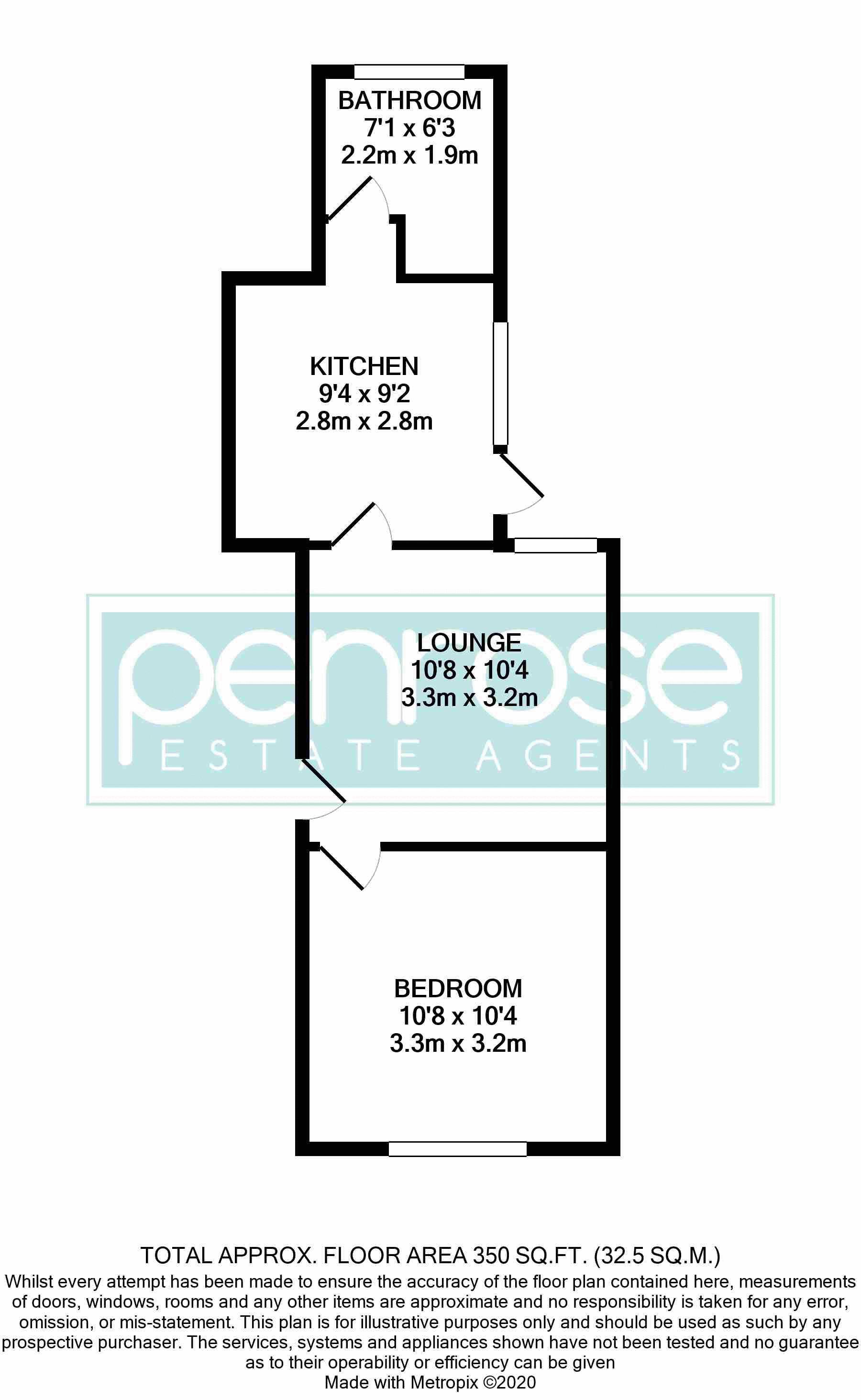 2 bedroom Flat to buy in Albert Road, Luton Floorplan