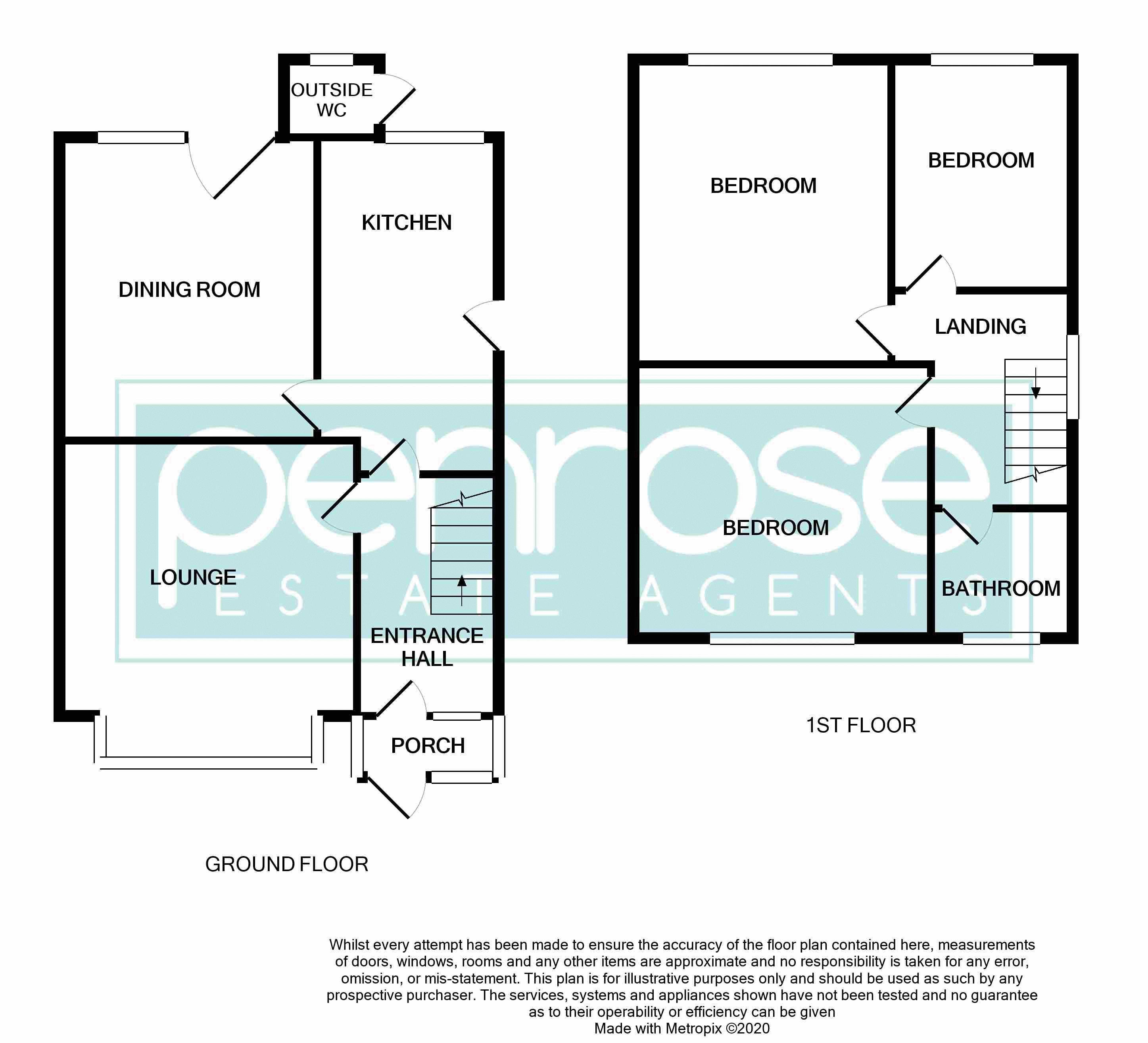 3 bedroom Semi-Detached  to buy in Richmond Hill, Luton Floorplan