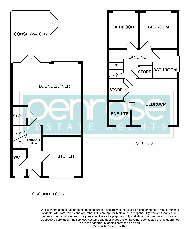 3 bedroom Semi-Detached  to buy in The Belfry, Luton Floorplan
