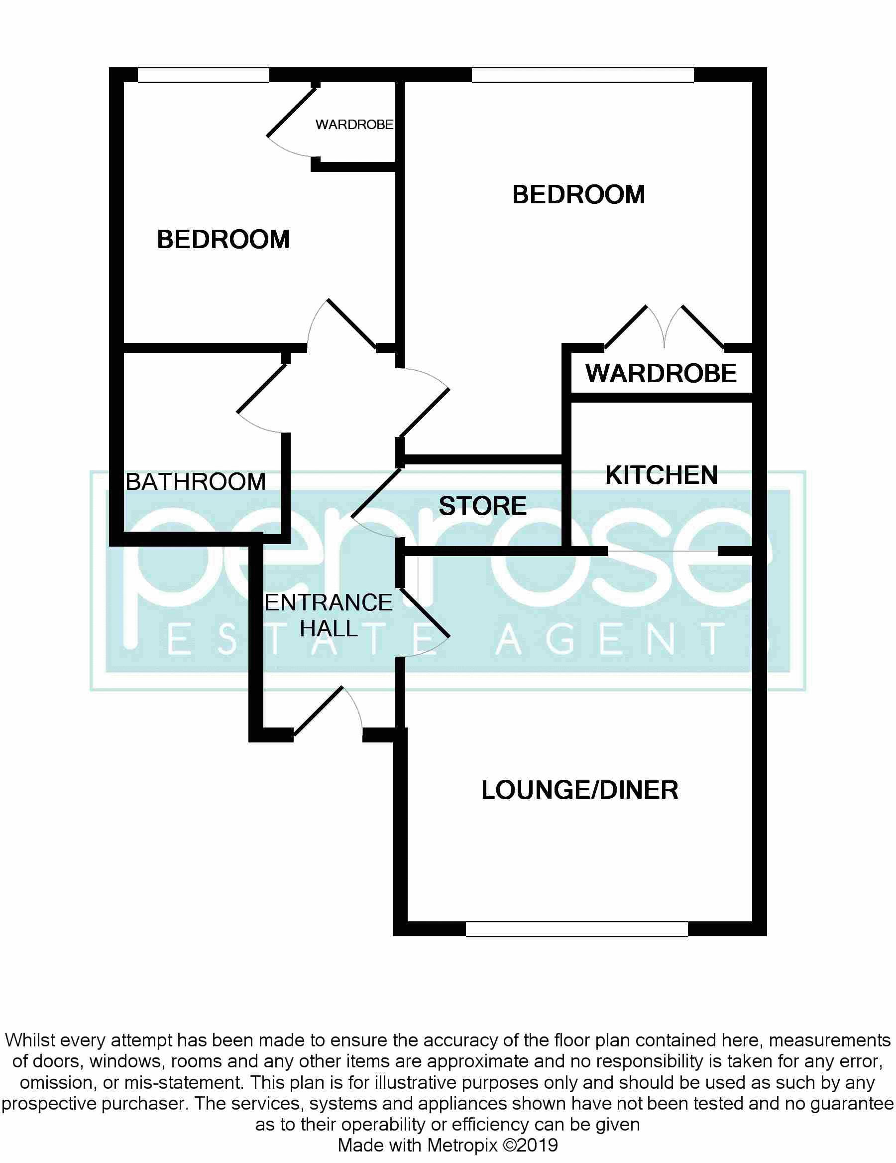 2 bedroom Flat to buy in Earls Meade, Luton Floorplan