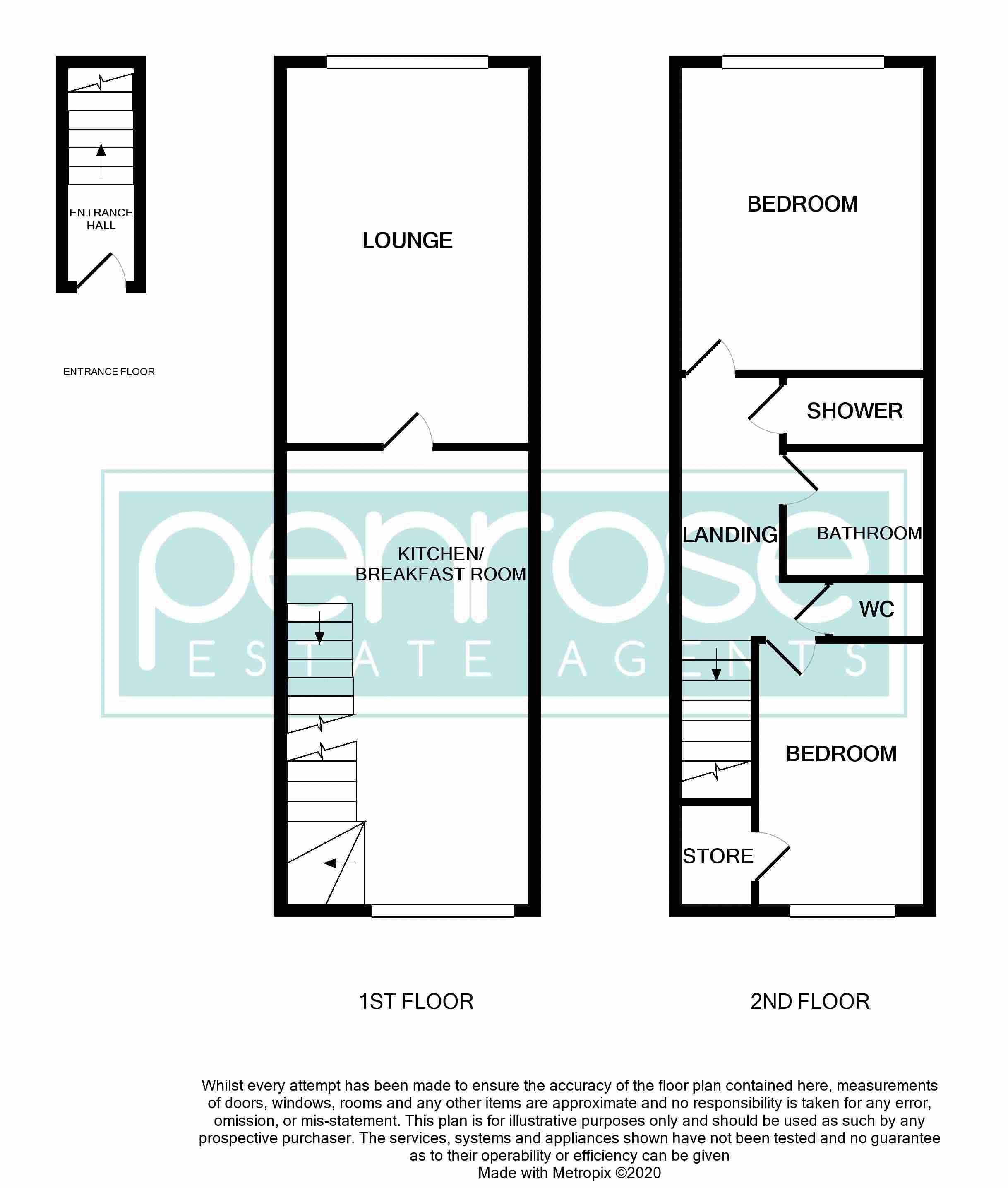 2 bedroom Maisonette to buy in Brussels Way, Luton Floorplan