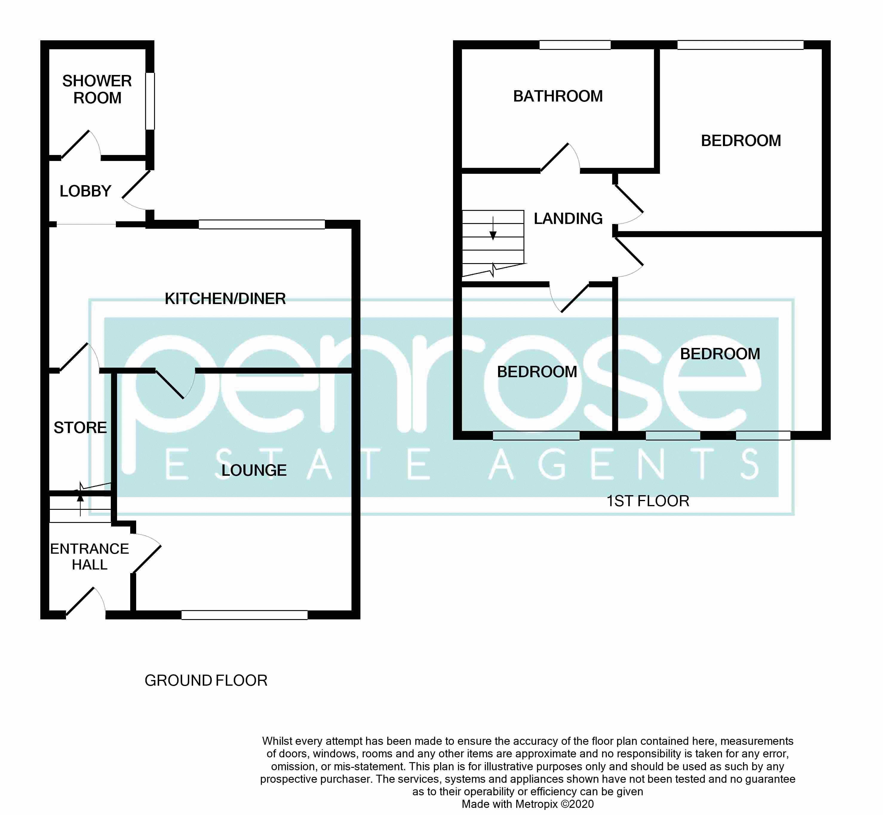 3 bedroom Mid Terrace to buy in Solway Road North, Luton Floorplan