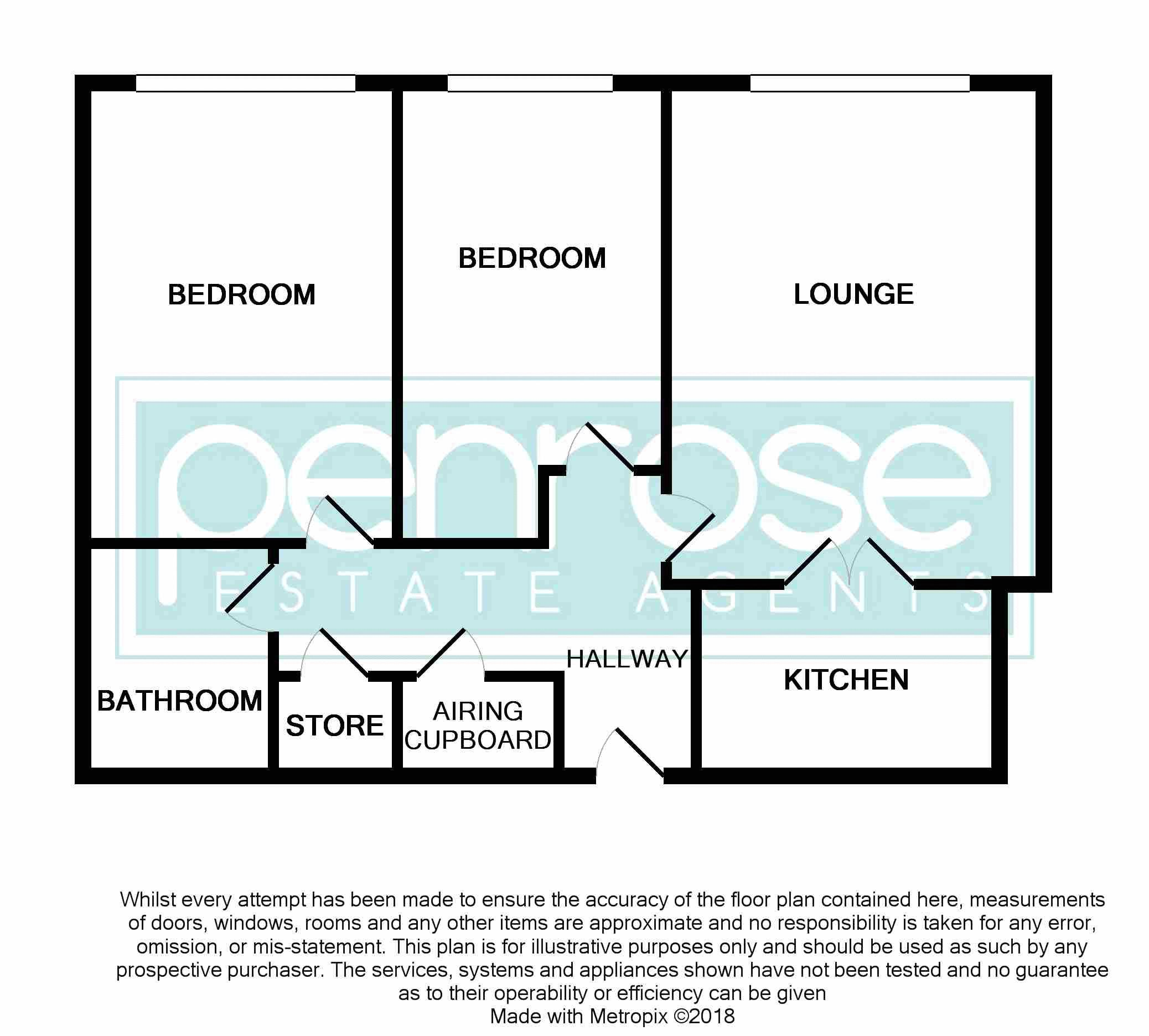 2 bedroom Retirement to buy in Popes Court, Luton Floorplan