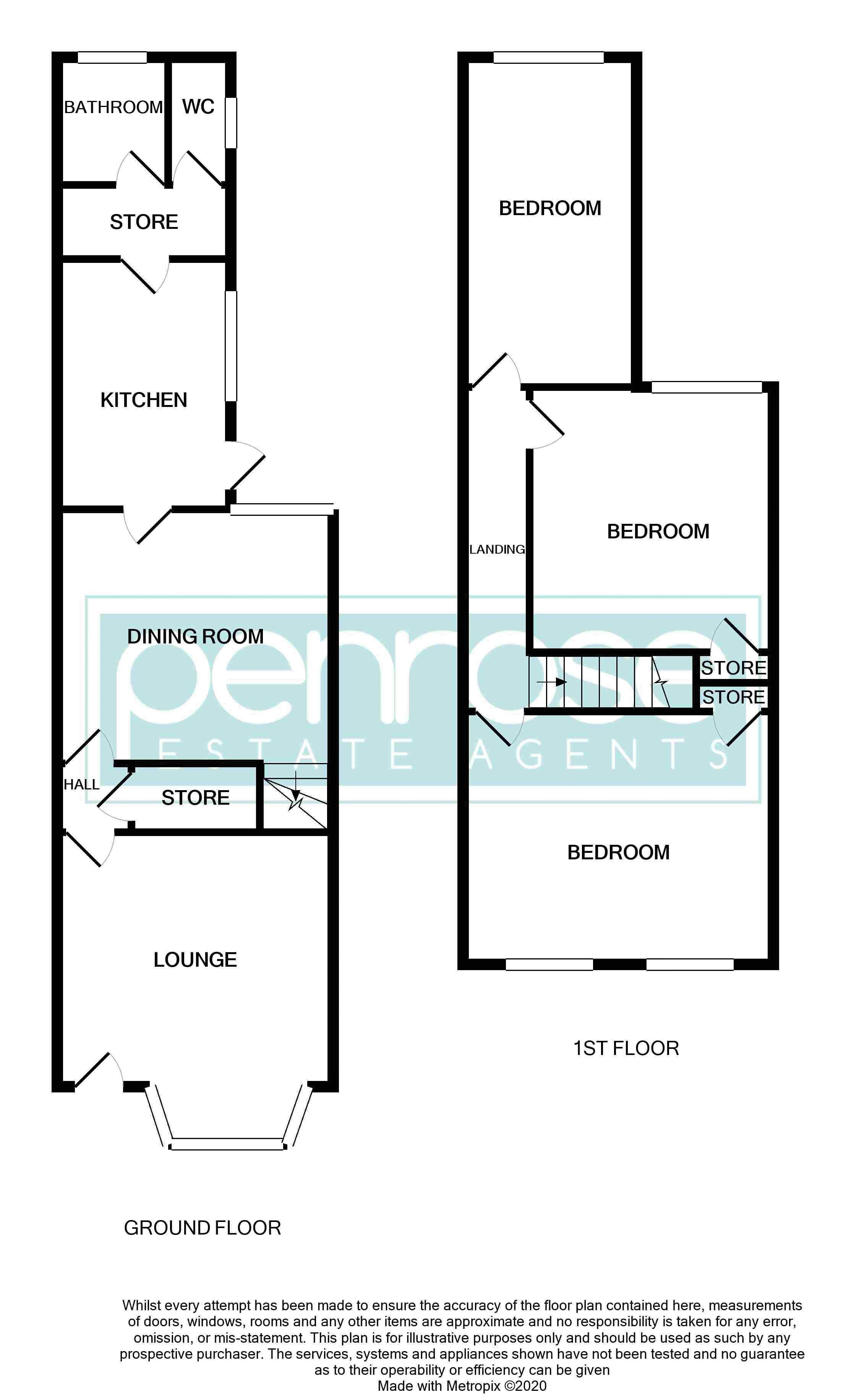 3 bedroom Mid Terrace to buy in Spencer Road, Luton Floorplan
