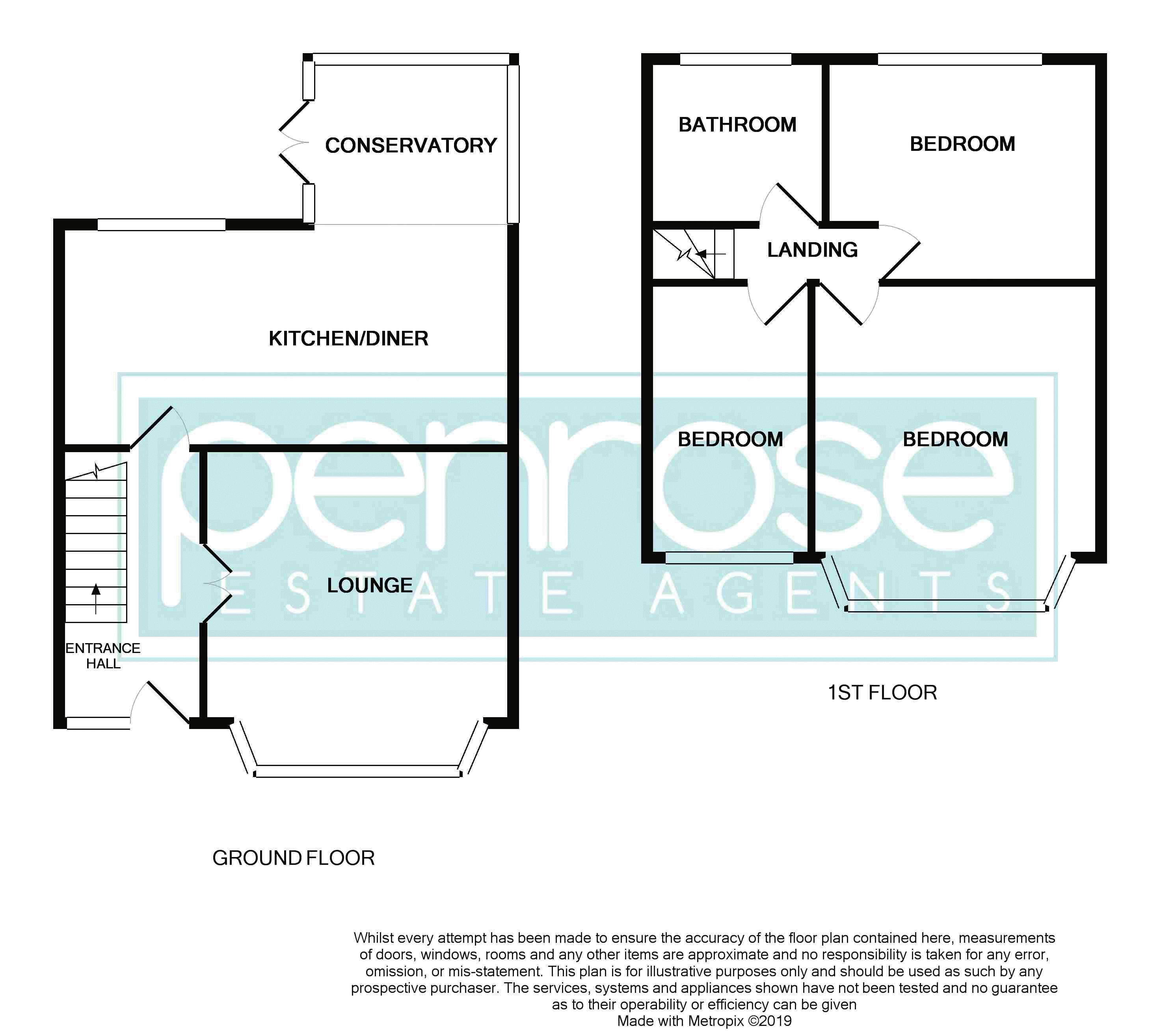 3 bedroom Mid Terrace to buy in Wilsden Avenue, Luton Floorplan