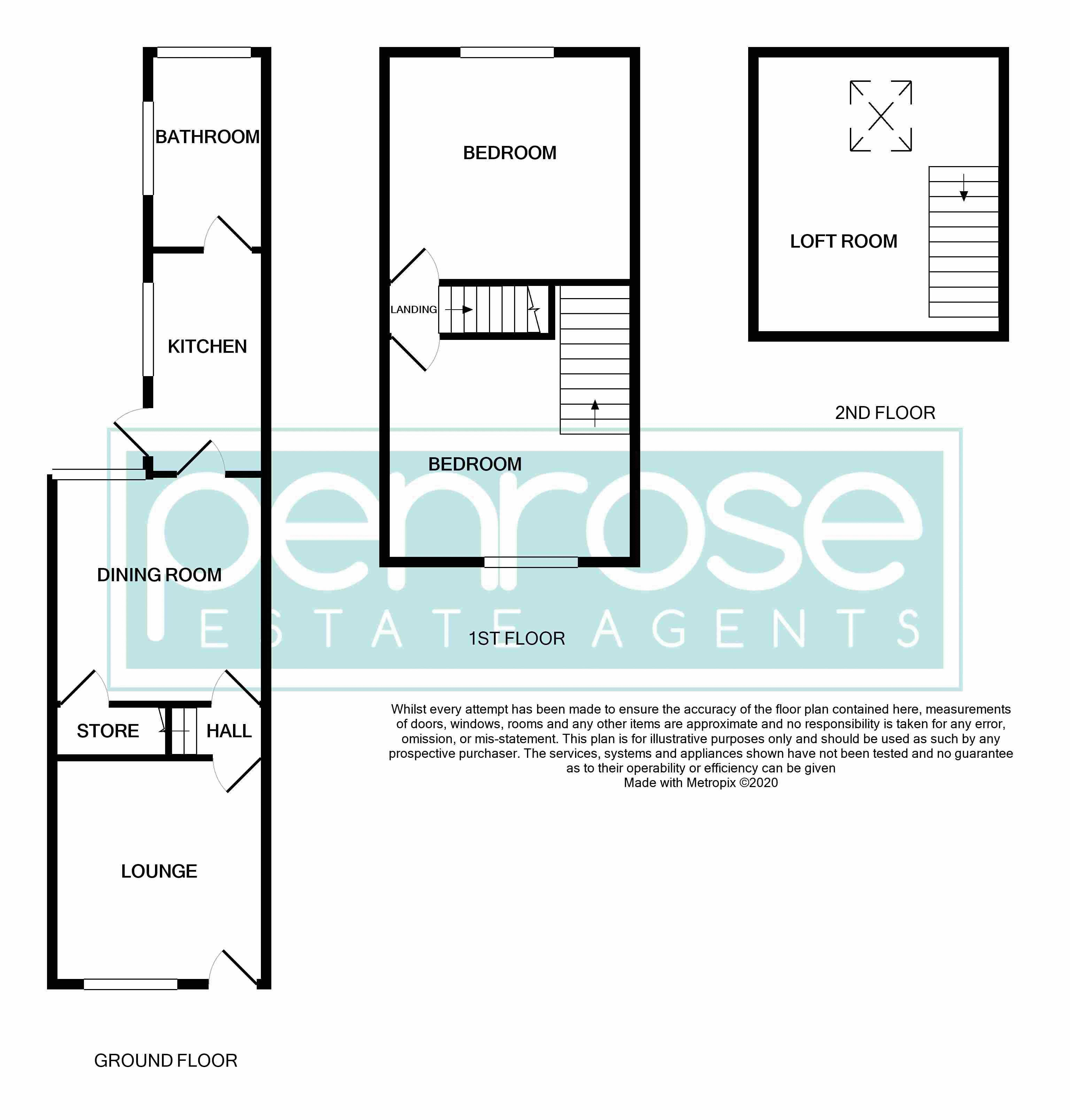 2 bedroom Mid Terrace to buy in Cowper Street, Luton Floorplan