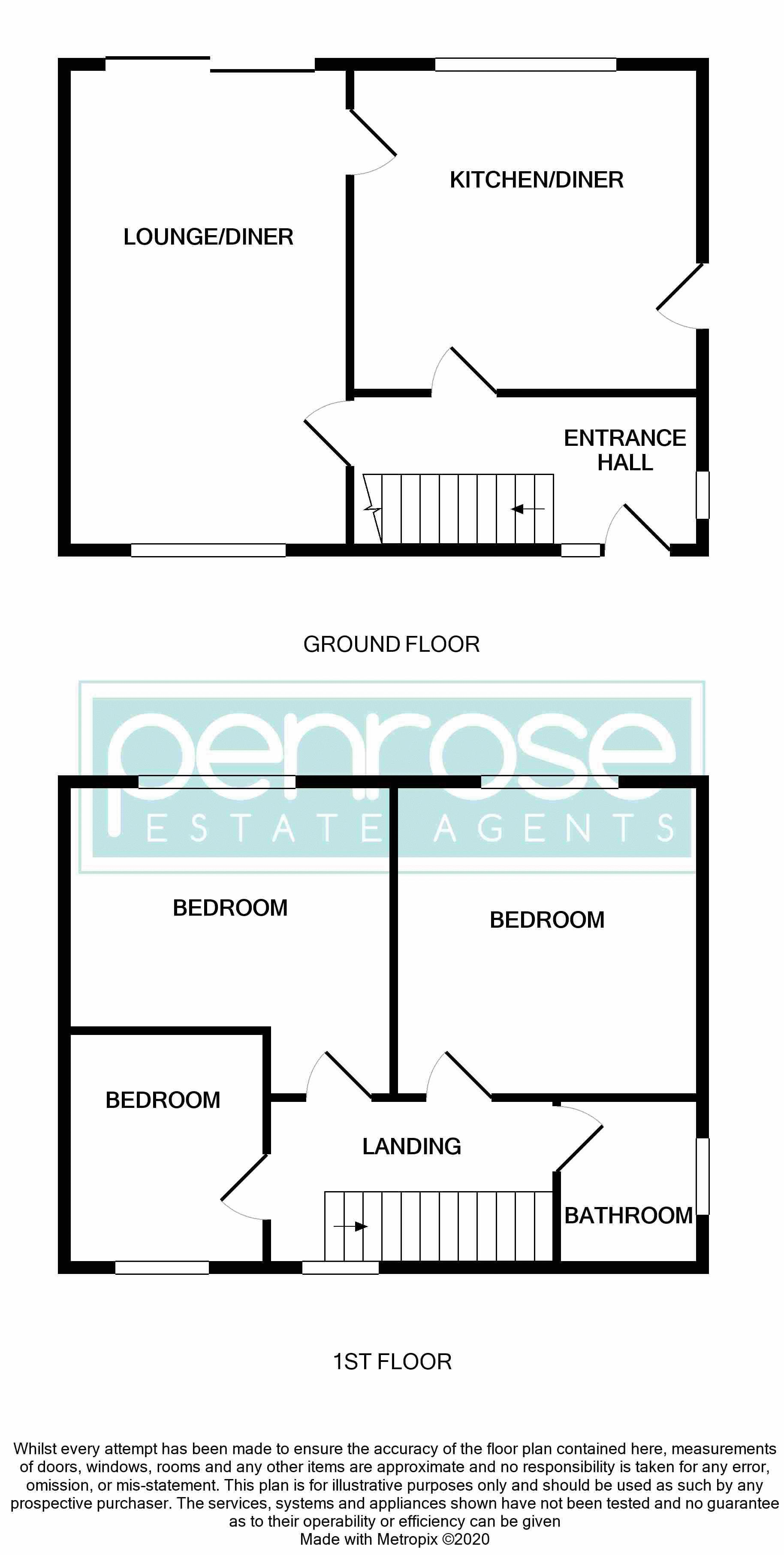 3 bedroom Semi-Detached  to buy in Redferns Close, Luton Floorplan