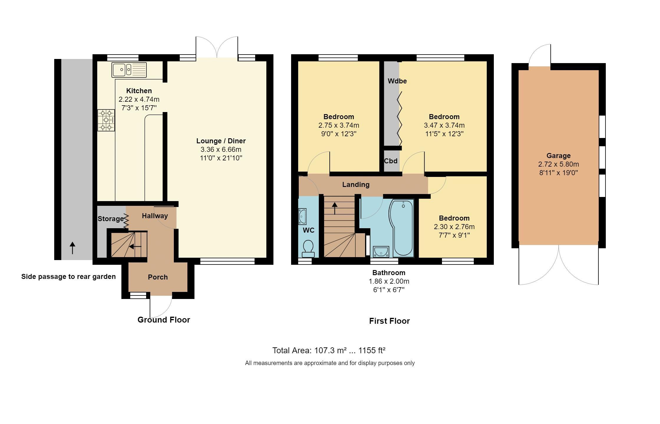 3 bedroom End Terrace to buy in Littlechurch Road, Luton Floorplan